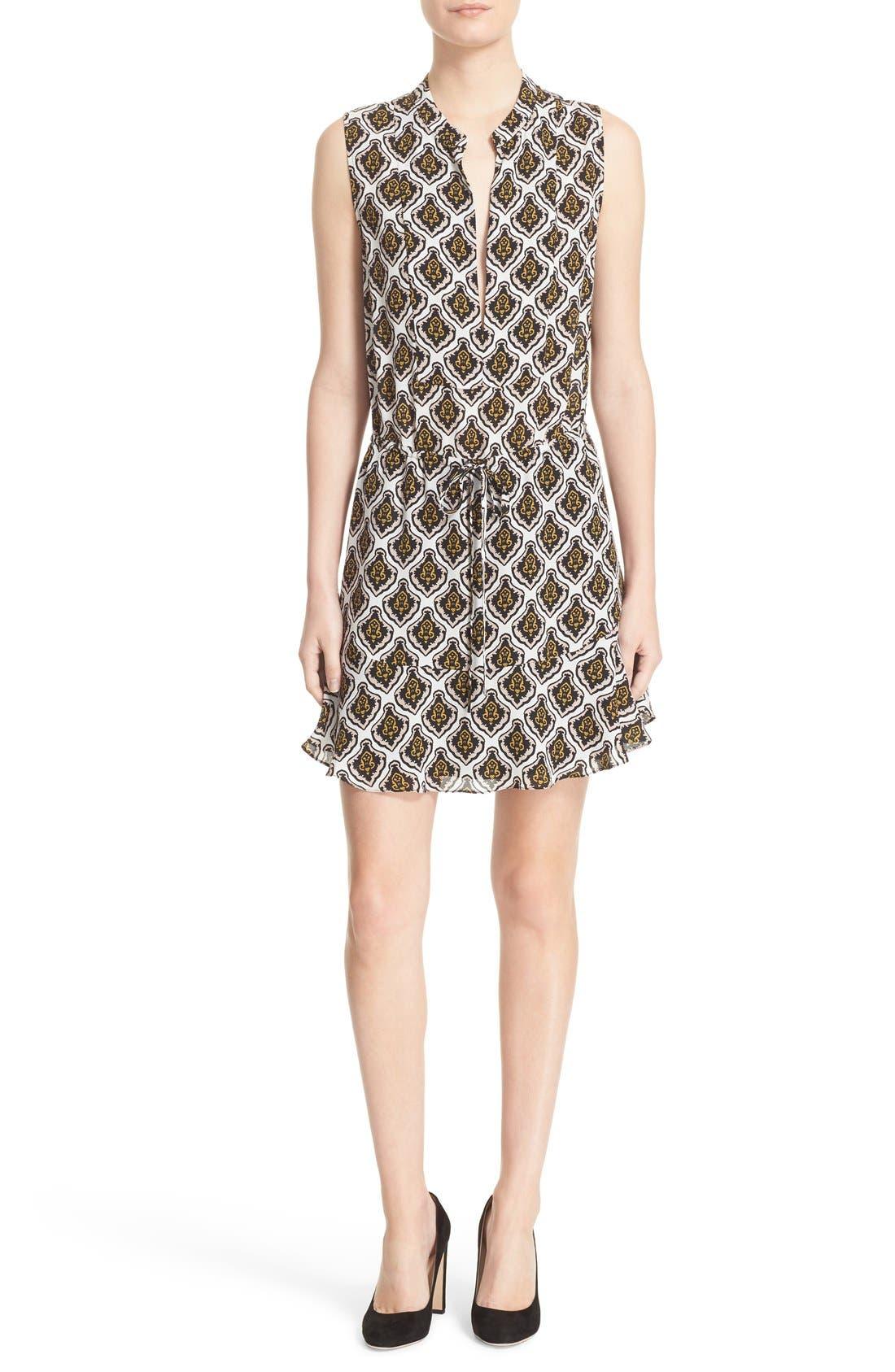 Main Image - A.L.C. Calder Print Silk Fit & Flare Dress