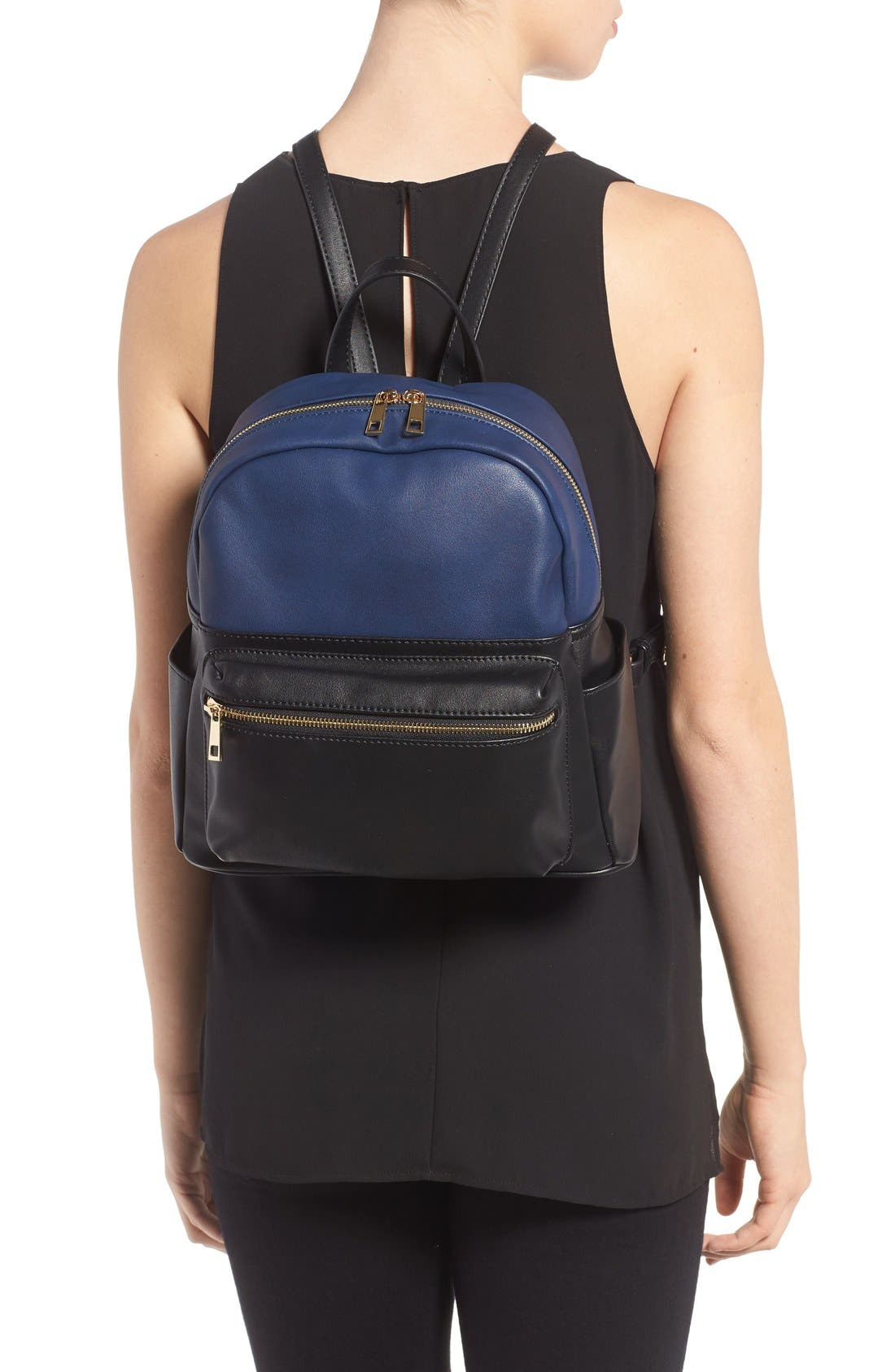 Alternate Image 2  - BP. Colorblock Faux Leather Backpack