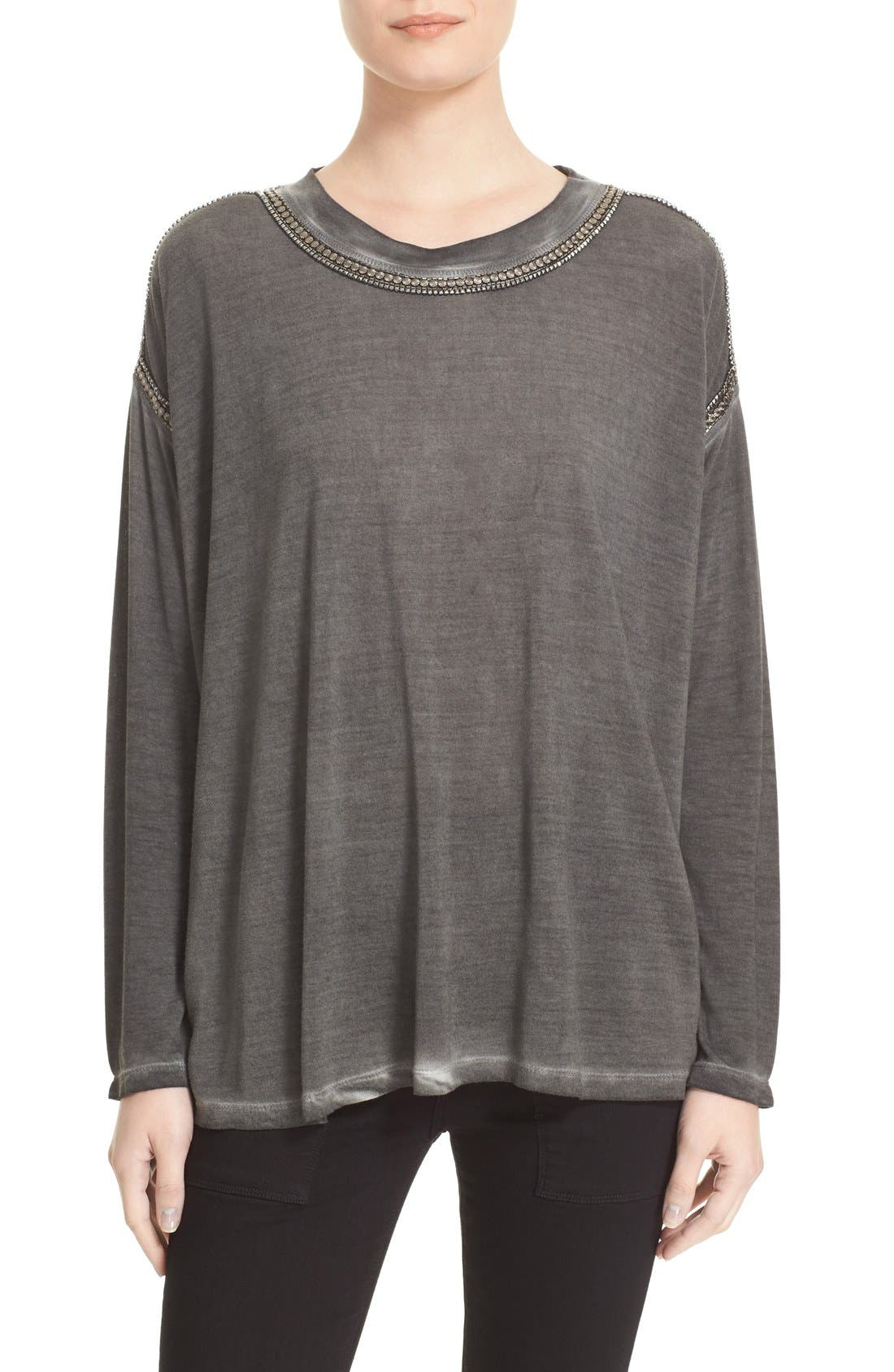 THE KOOPLES Chain Trim Jersey Top