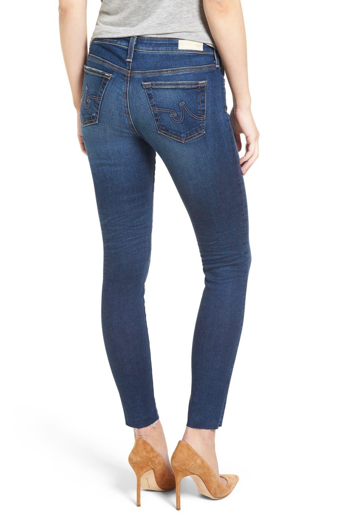 Alternate Image 3  - AG 'The Legging' Ankle Jeans (7 Year Break with Raw Hem)