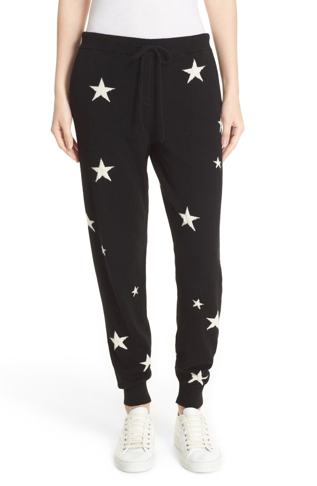 Main Image - Chinti and Parker Star Knit Cashmere Track Pants