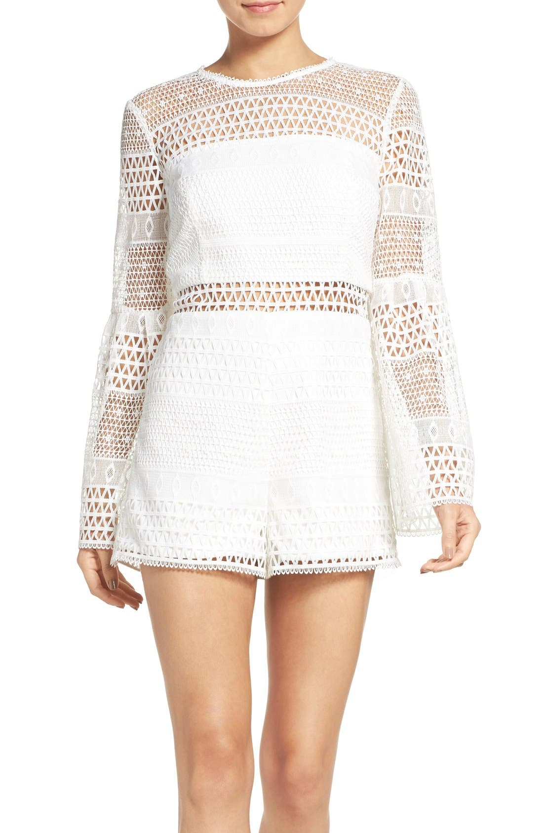Alternate Image 1 Selected - Bardot Kristy Lace Romper