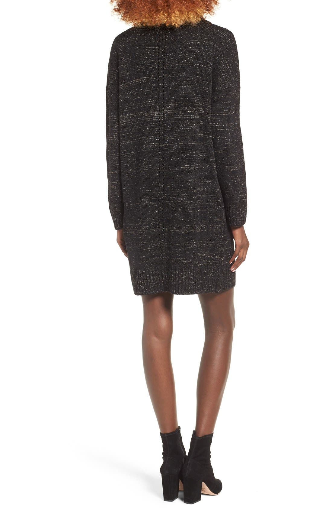 Alternate Image 3  - MOON RIVER Turtleneck Sweater Dress