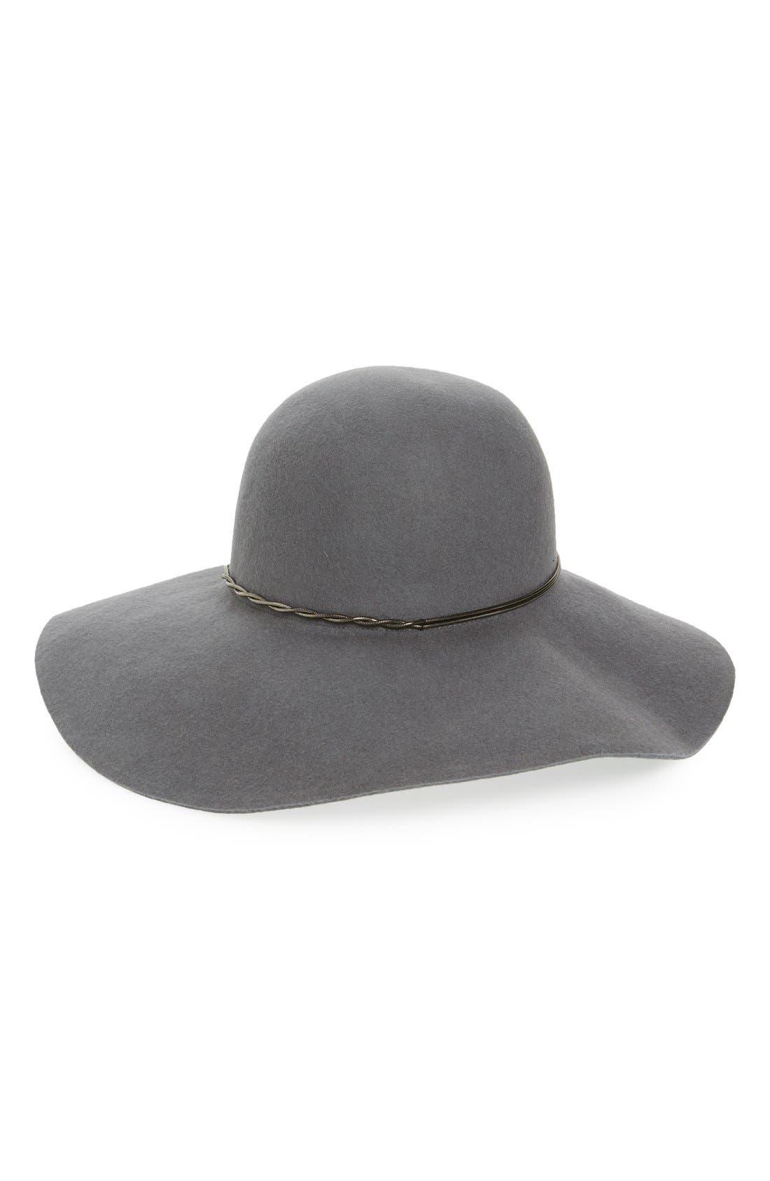 Main Image - Halogen® Chain Band Floppy Hat