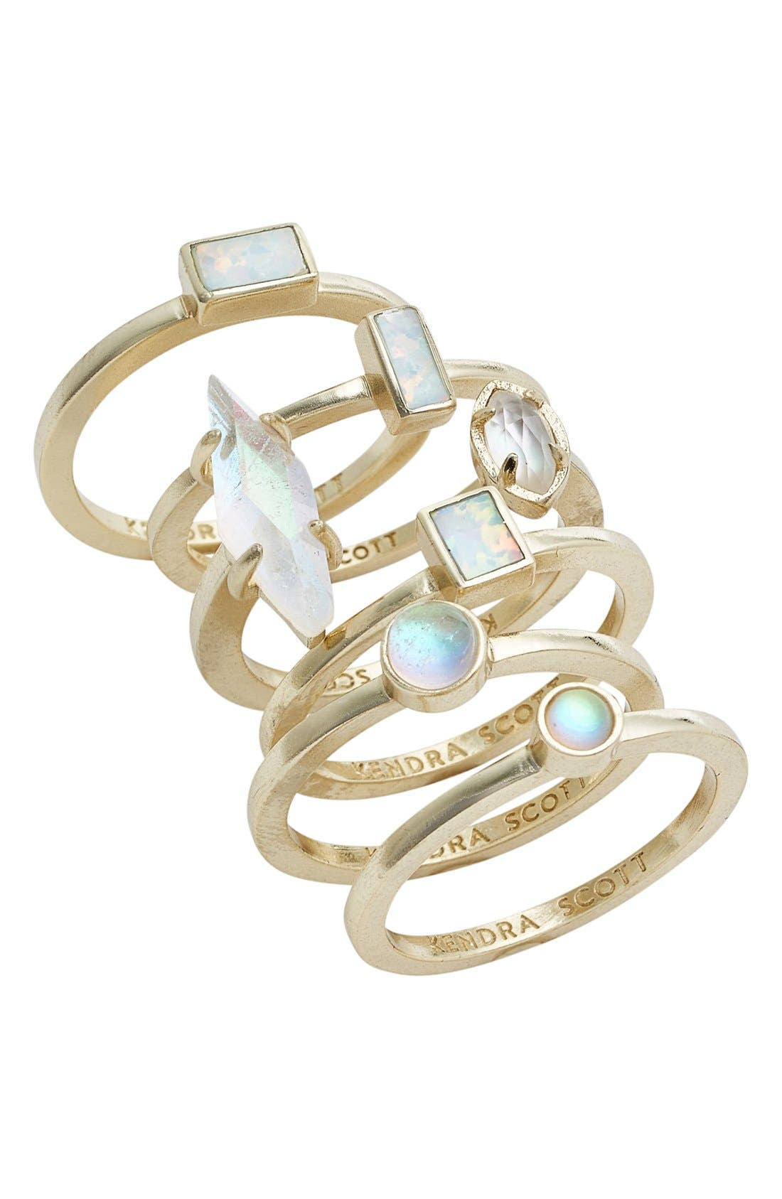 Main Image - Kendra Scott Phoebe Set of Six Stacking Rings