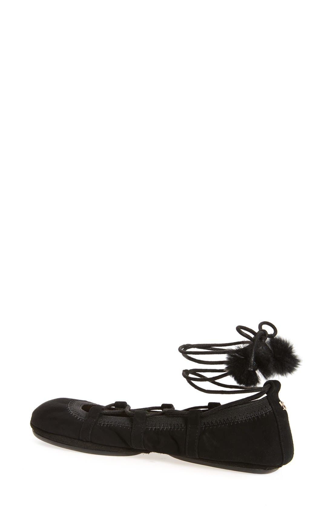 Alternate Image 2  - Yosi Samra Seleste Foldable Ballet Flat (Women)
