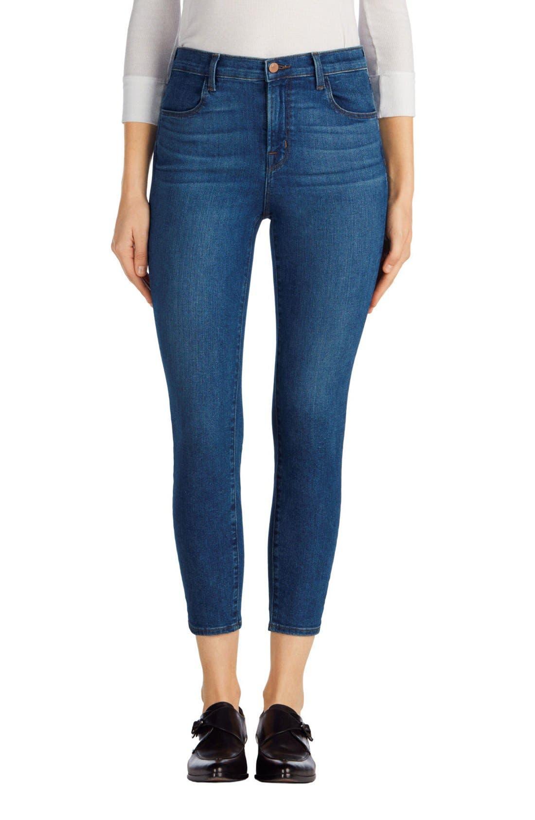 J Brand Alana High Waist Crop Skinny Jeans (Connection)