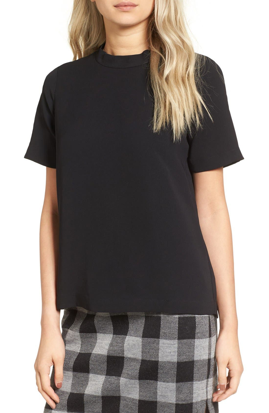 Alternate Image 1 Selected - Madewell Back Button Crepe Tee