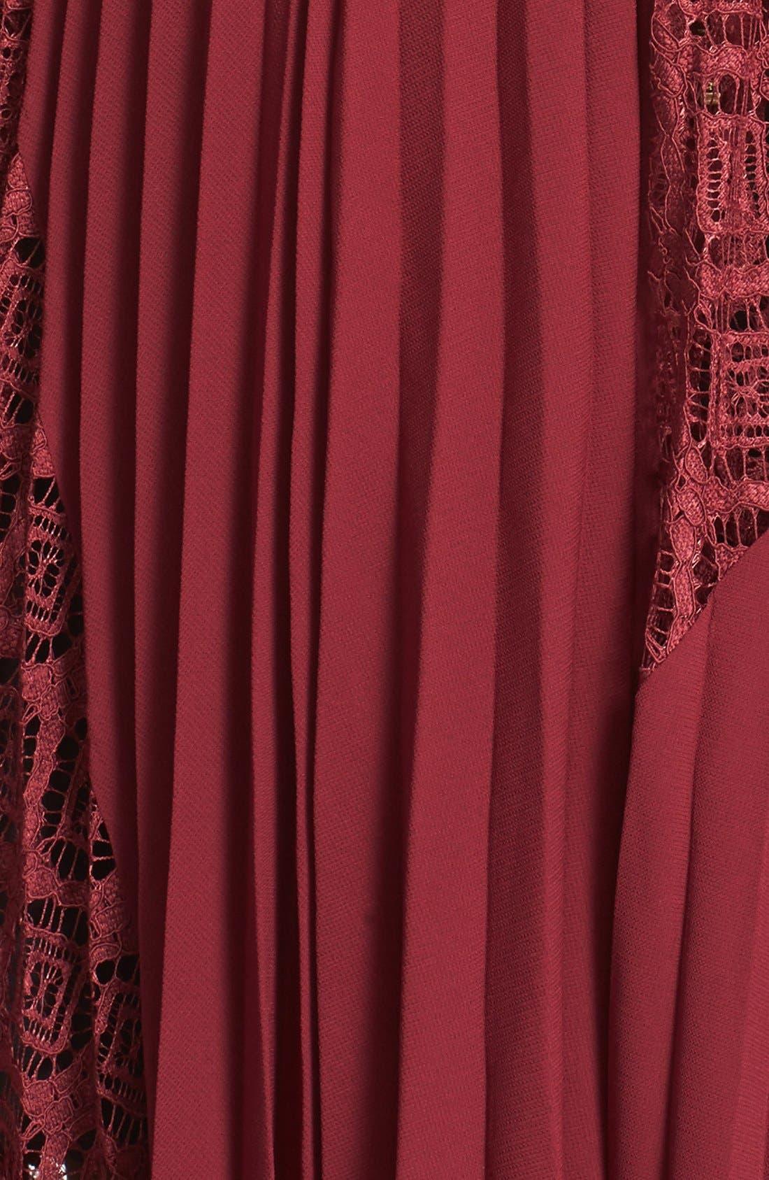 Alternate Image 6  - Self-Portrait Symm Lace & Chiffon Midi Dress
