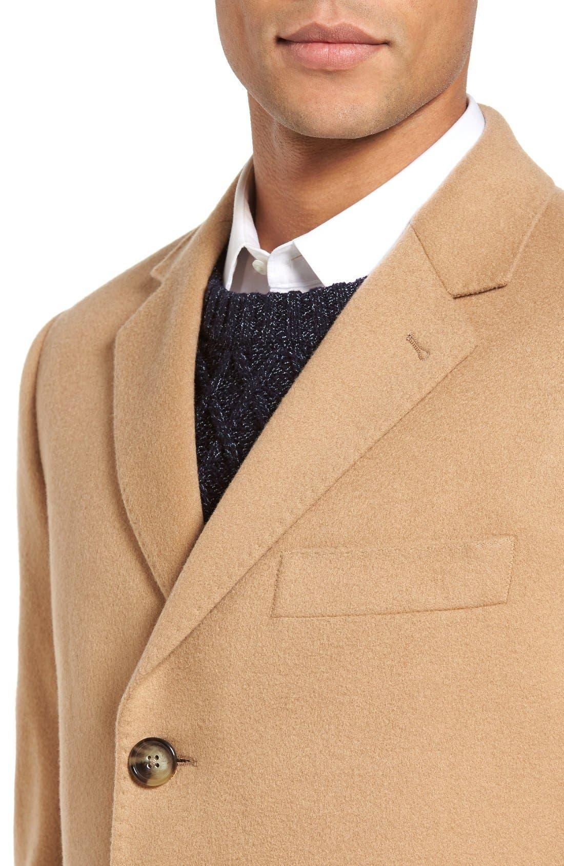 Alternate Image 4  - Nordstrom Men's Shop Freemont Wool & Cashmere Overcoat