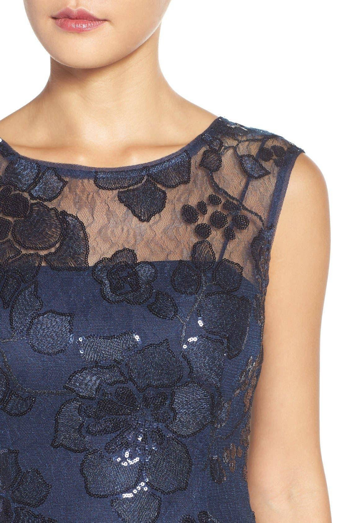 Alternate Image 4  - Adrianna Papell Embellished Lace Sheath Dress