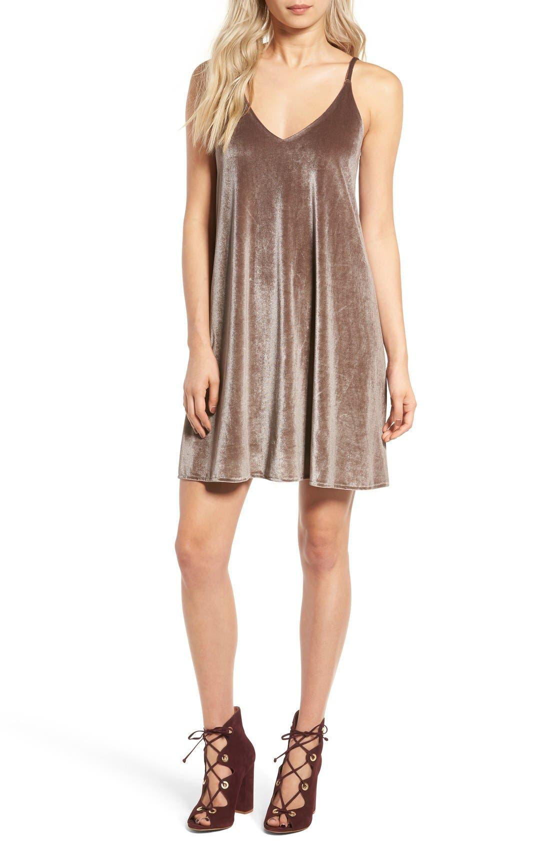 Alternate Image 1 Selected - Ten Sixty Sherman Velvet Camisole Dress