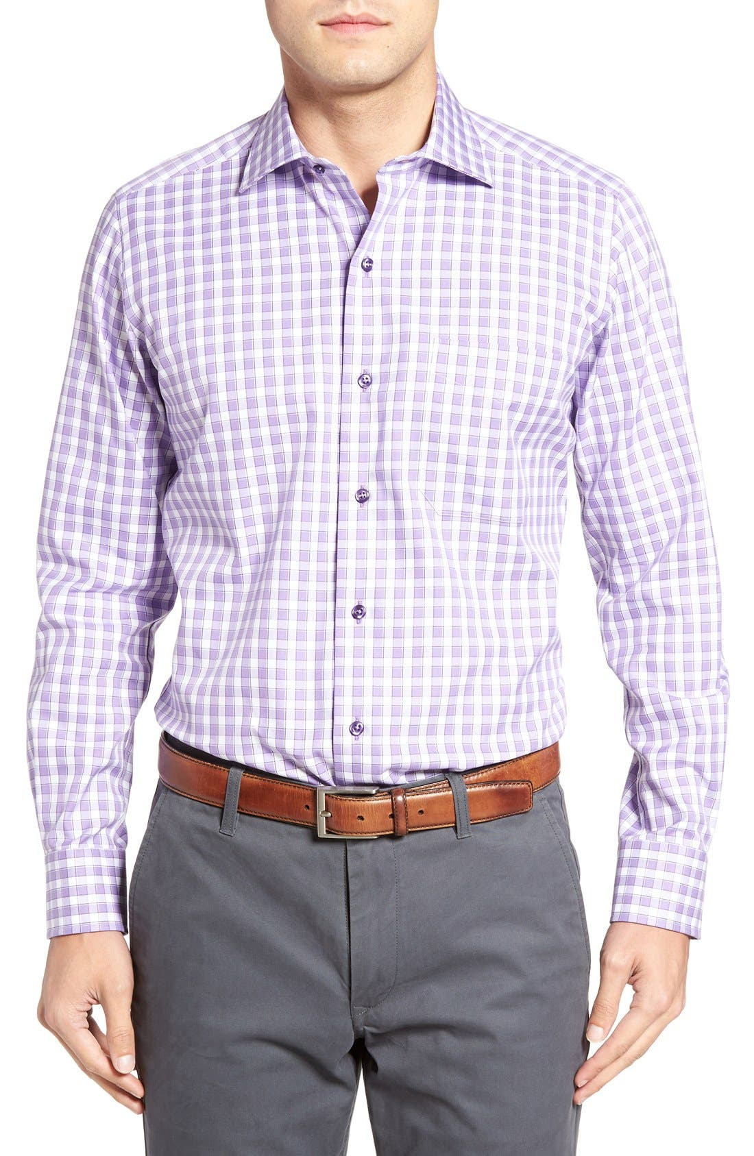DAVID DONAHUE Regular Fit Check Sport Shirt