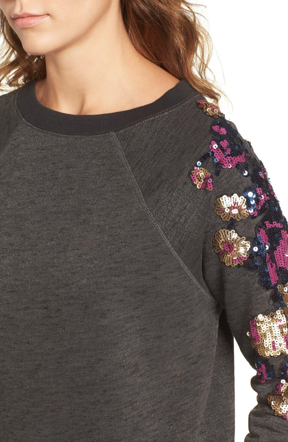 Alternate Image 4  - Rebecca Minkoff Sequin Sweatshirt
