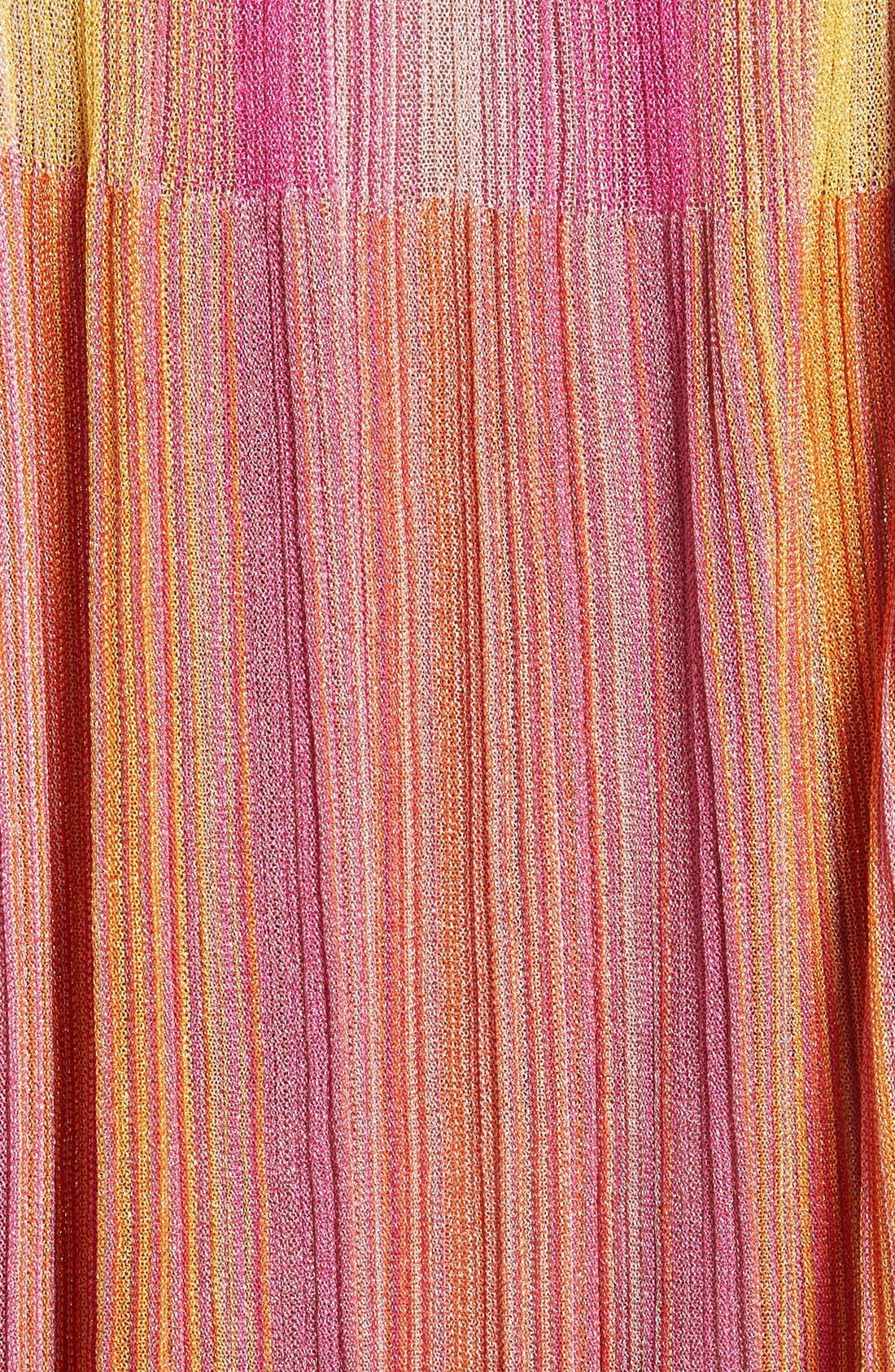 Alternate Image 5  - M Missoni Plissé Metallic Knit Shift Dress