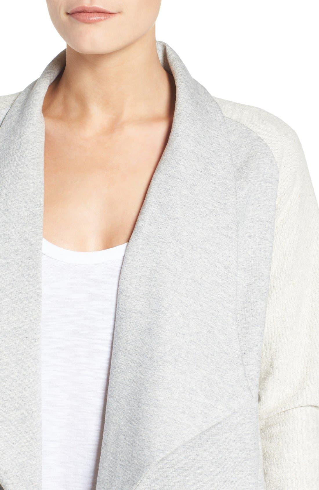 Alternate Image 4  - Pleione Reverse Knit Terry Jacket