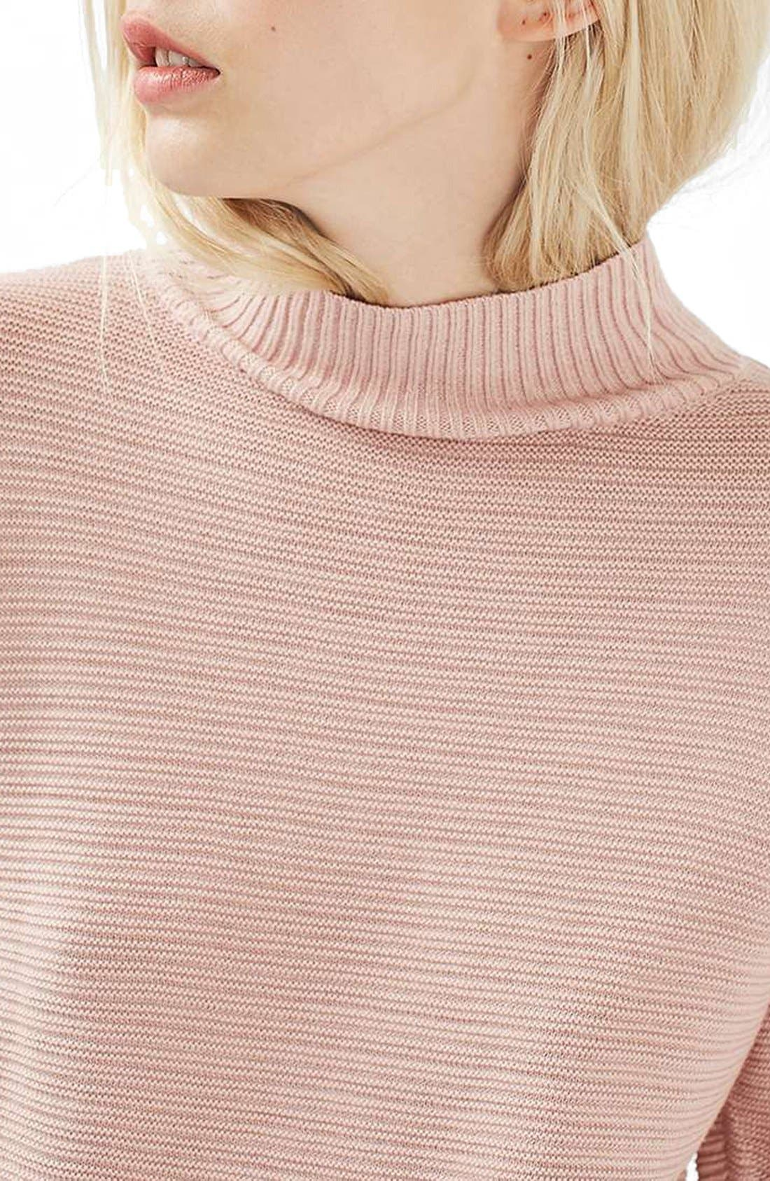 Alternate Image 5  - Topshop Mixed Stitch Sweater