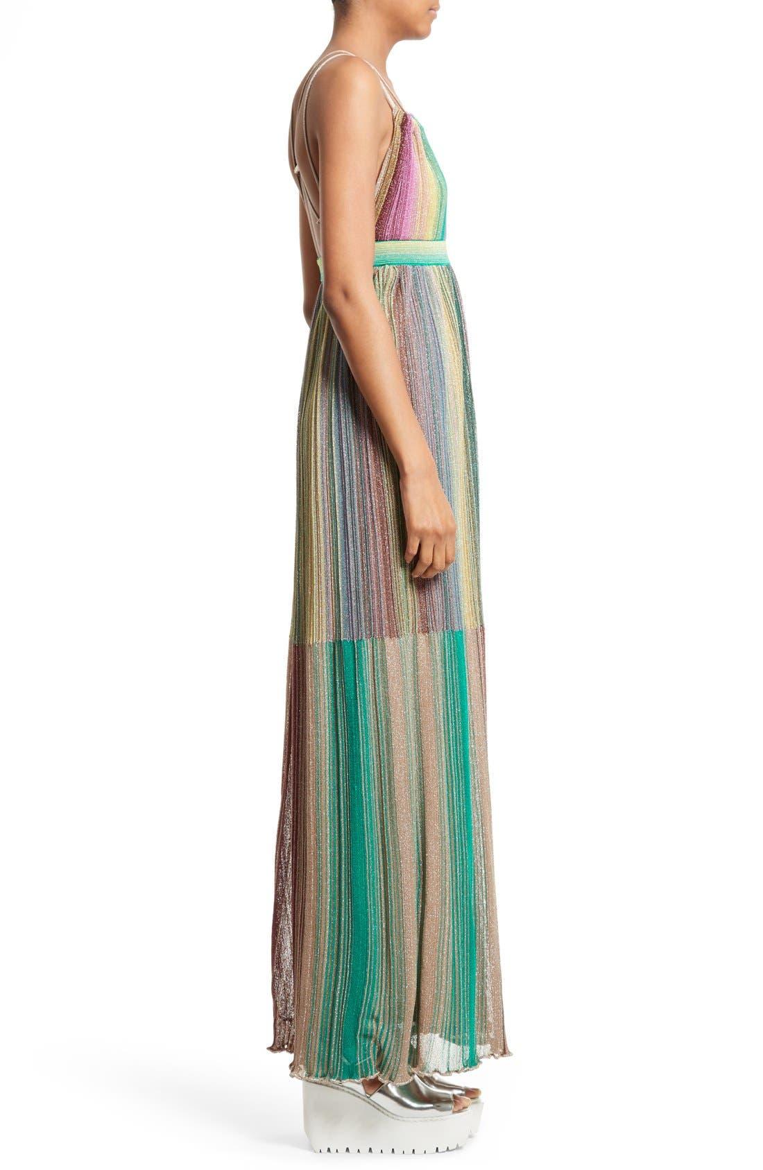 Alternate Image 3  - M Missoni Plissé Multicolor Maxi Dress