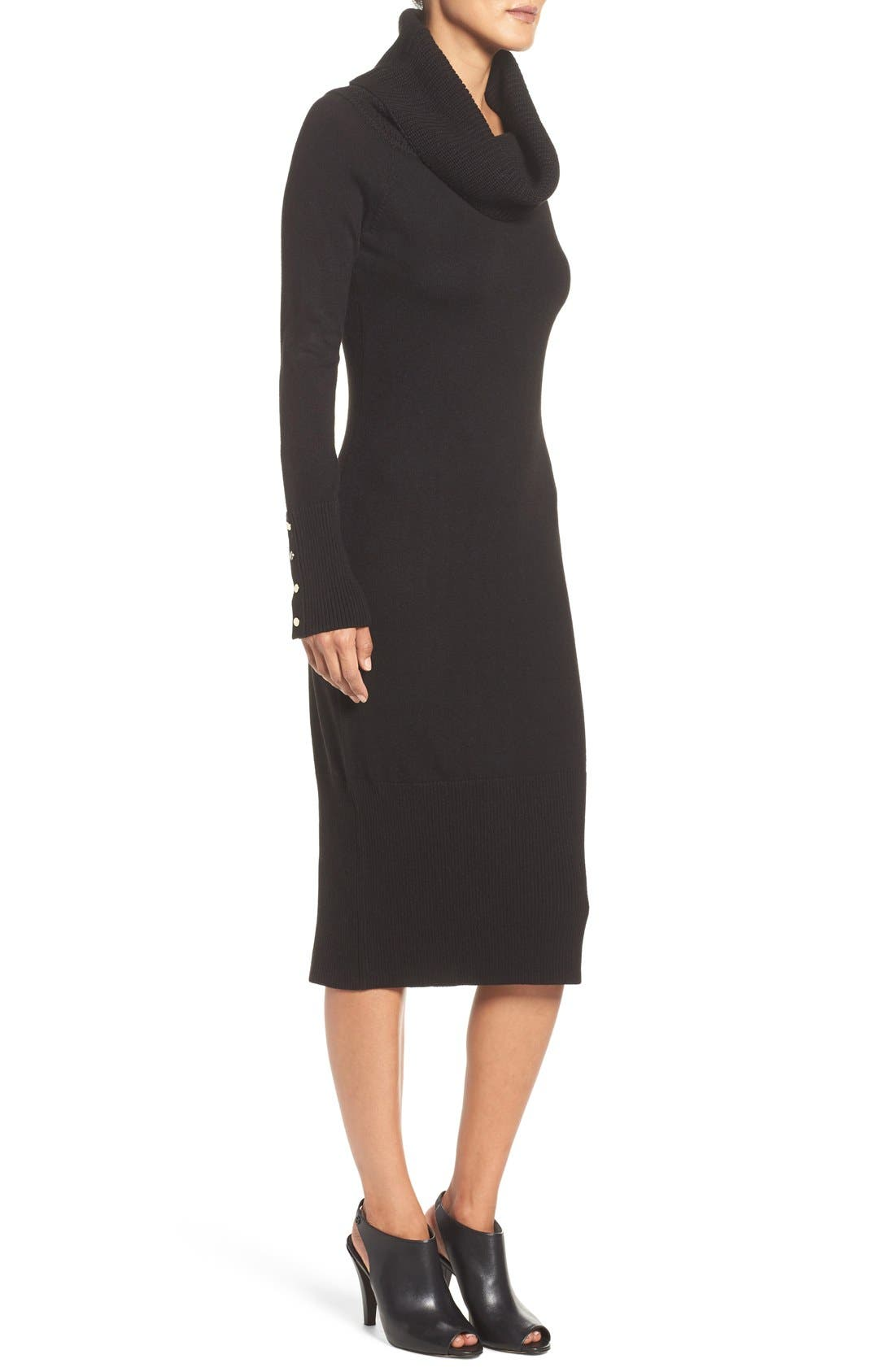 Alternate Image 3  - Eliza J Cowl Neck Sweater Midi Dress