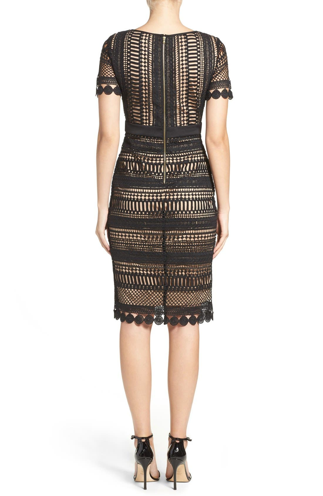 Alternate Image 2  - Gabby Skye Embroidered Lace Shift Dress