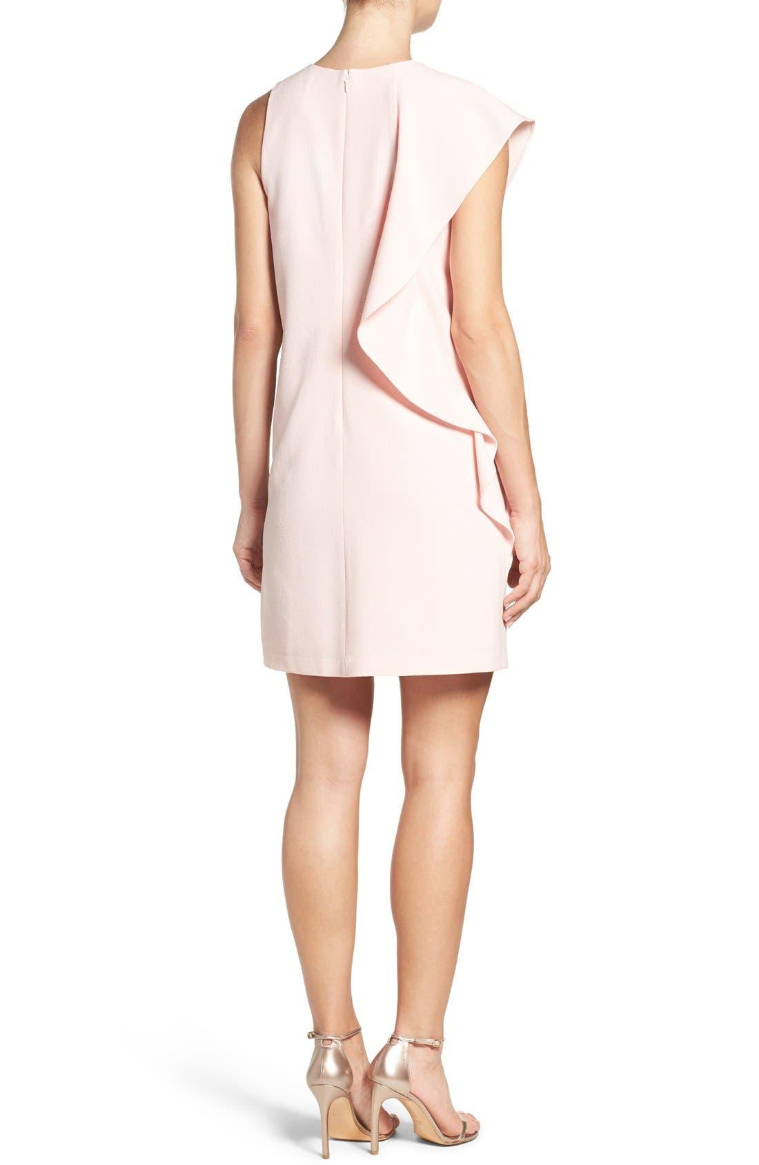 Alternate Image 2  - Chelsea28 Asymmetrical Ruffle Shift Dress