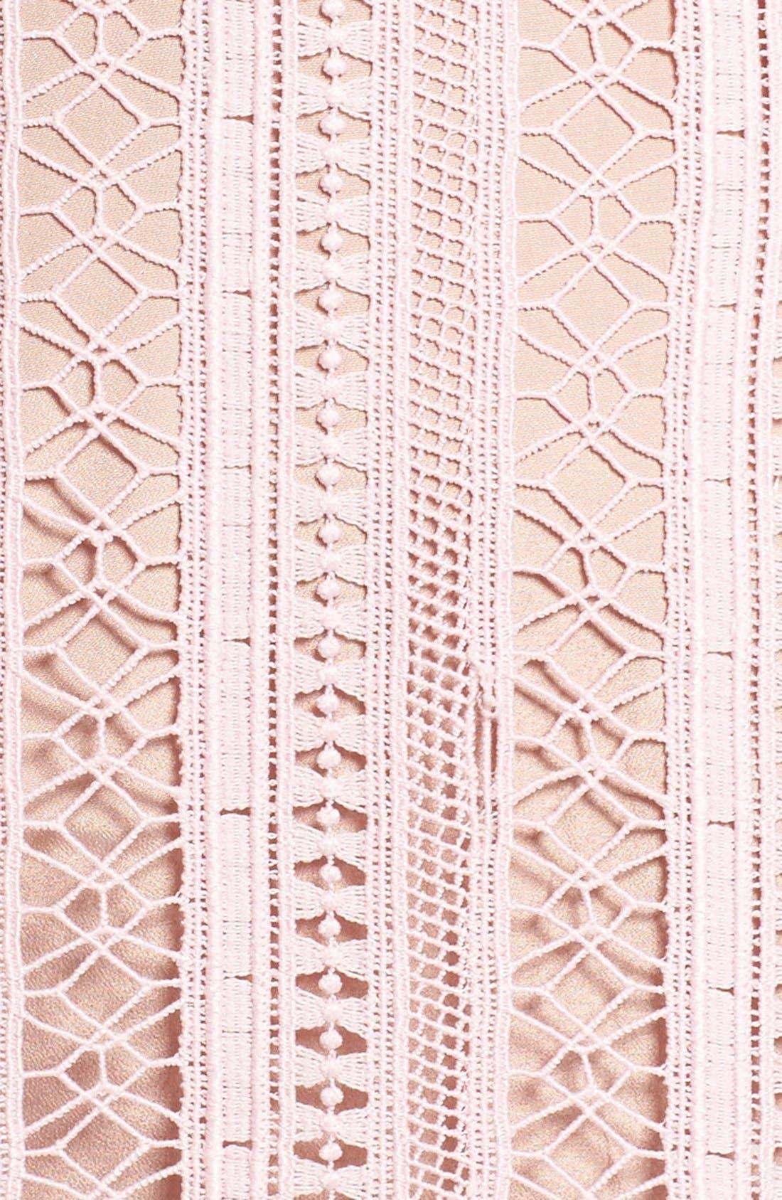 Alternate Image 6  - Greylin Lace Fit & Flare Dress