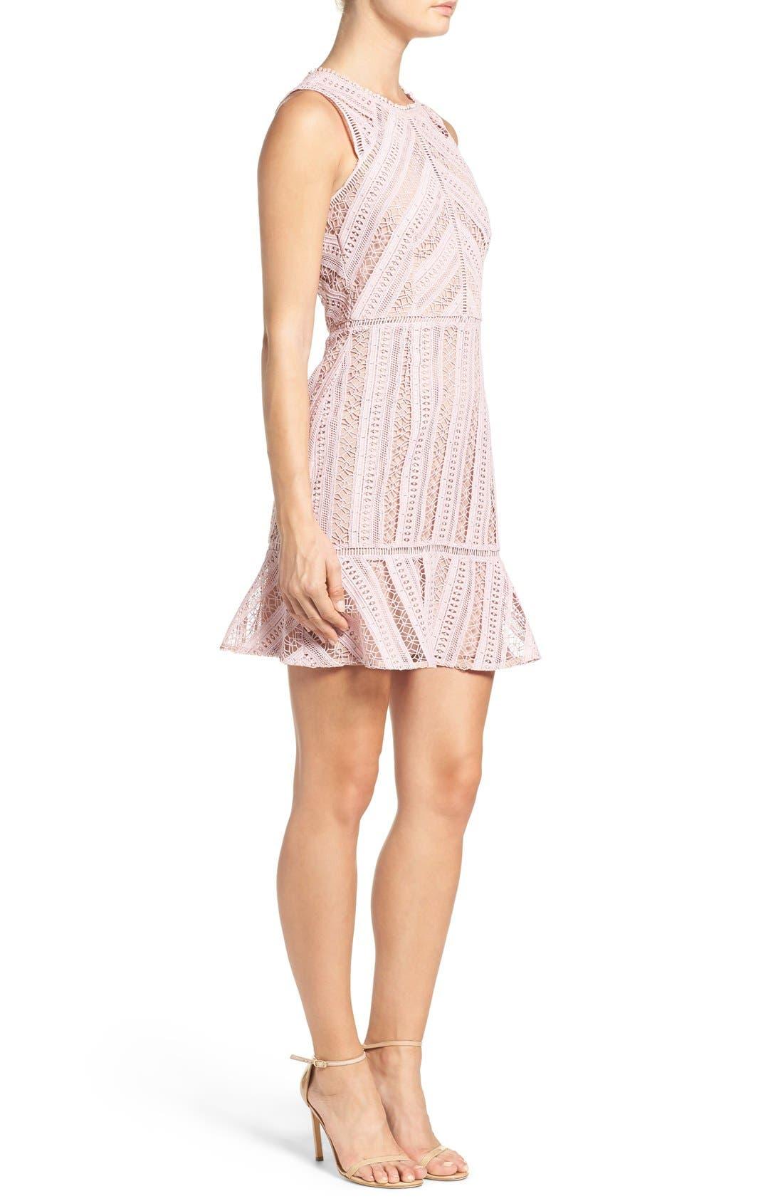 Alternate Image 4  - Greylin Lace Fit & Flare Dress
