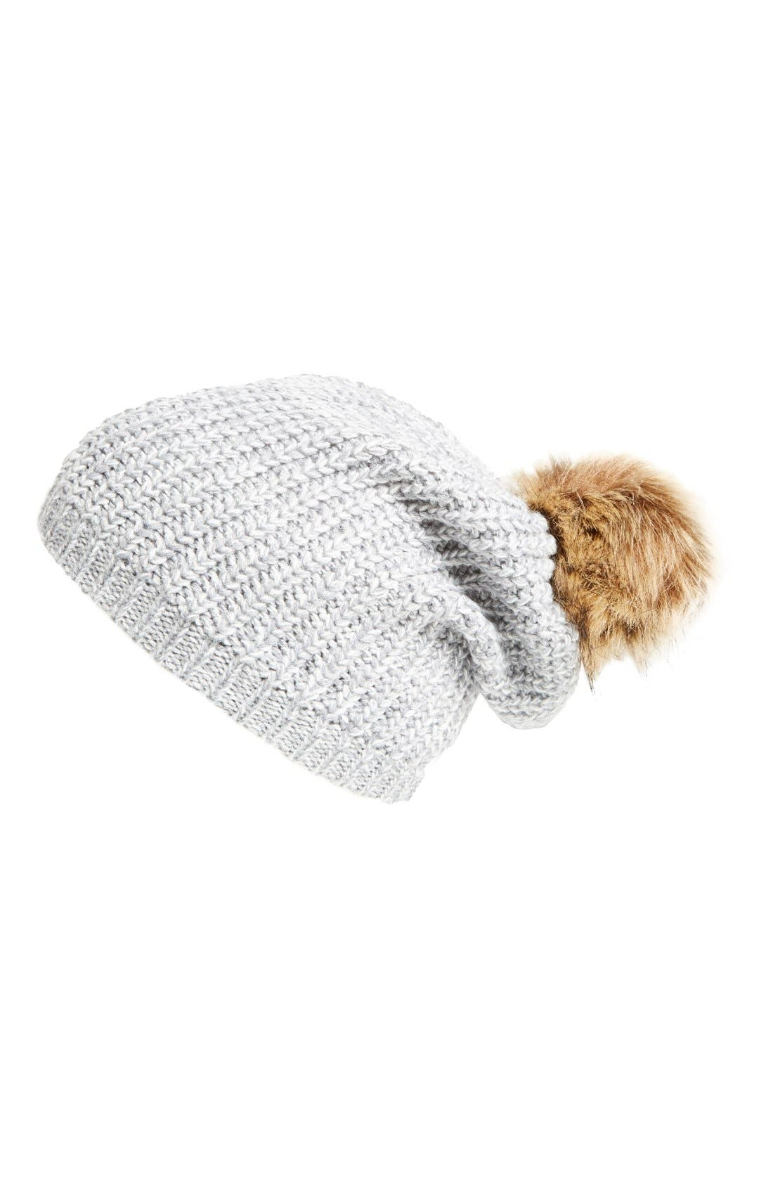 Alternate Image 1 Selected - Sole Society Pom Knit Beanie