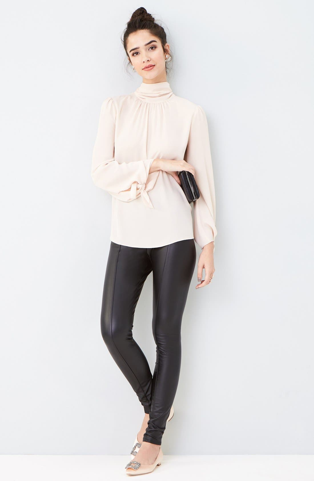 Alternate Image 8  - Lyssé High Waist Faux Leather Leggings