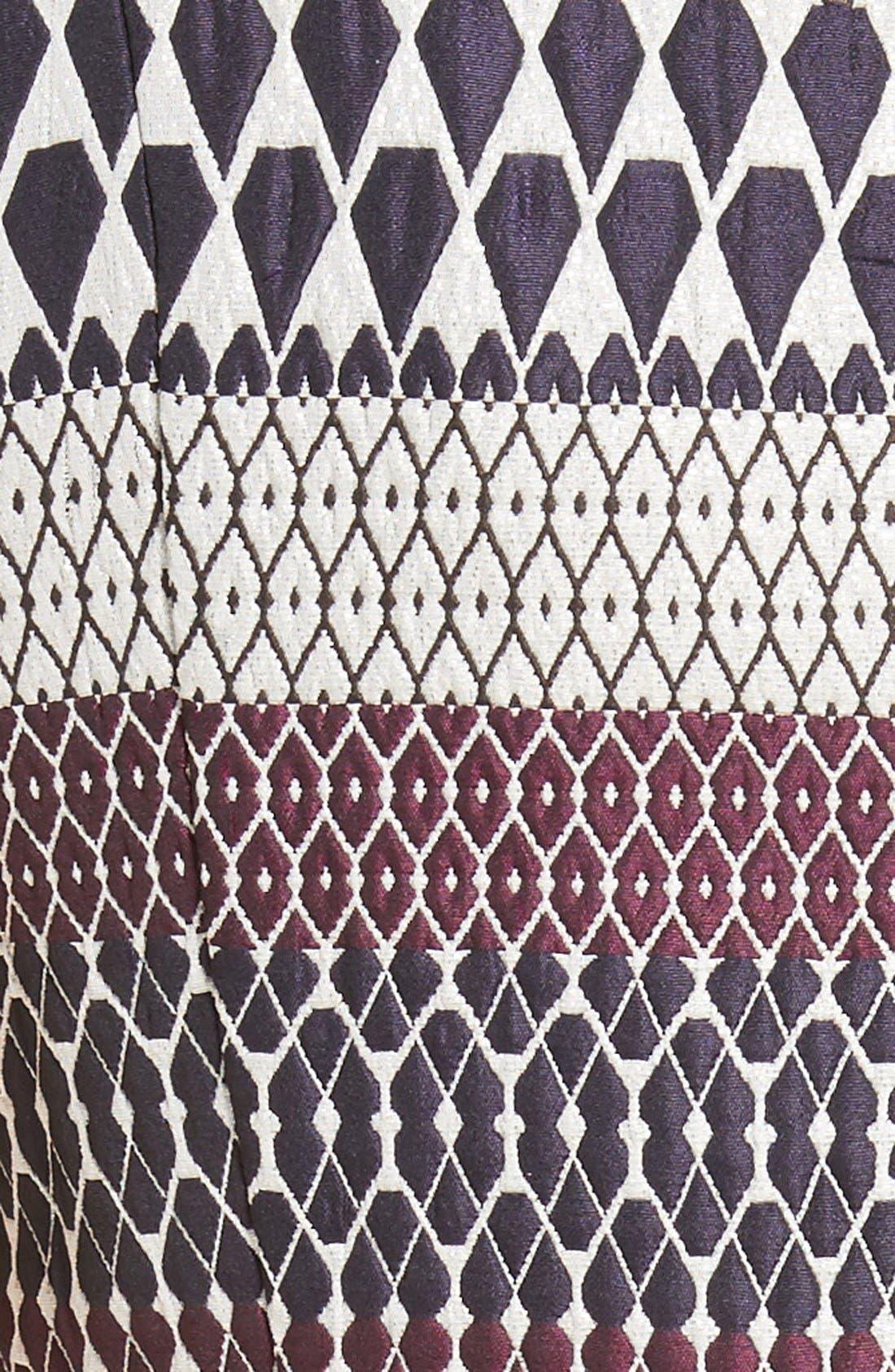 Alternate Image 5  - Ted Baker London Metallic Jacquard Skater Dress