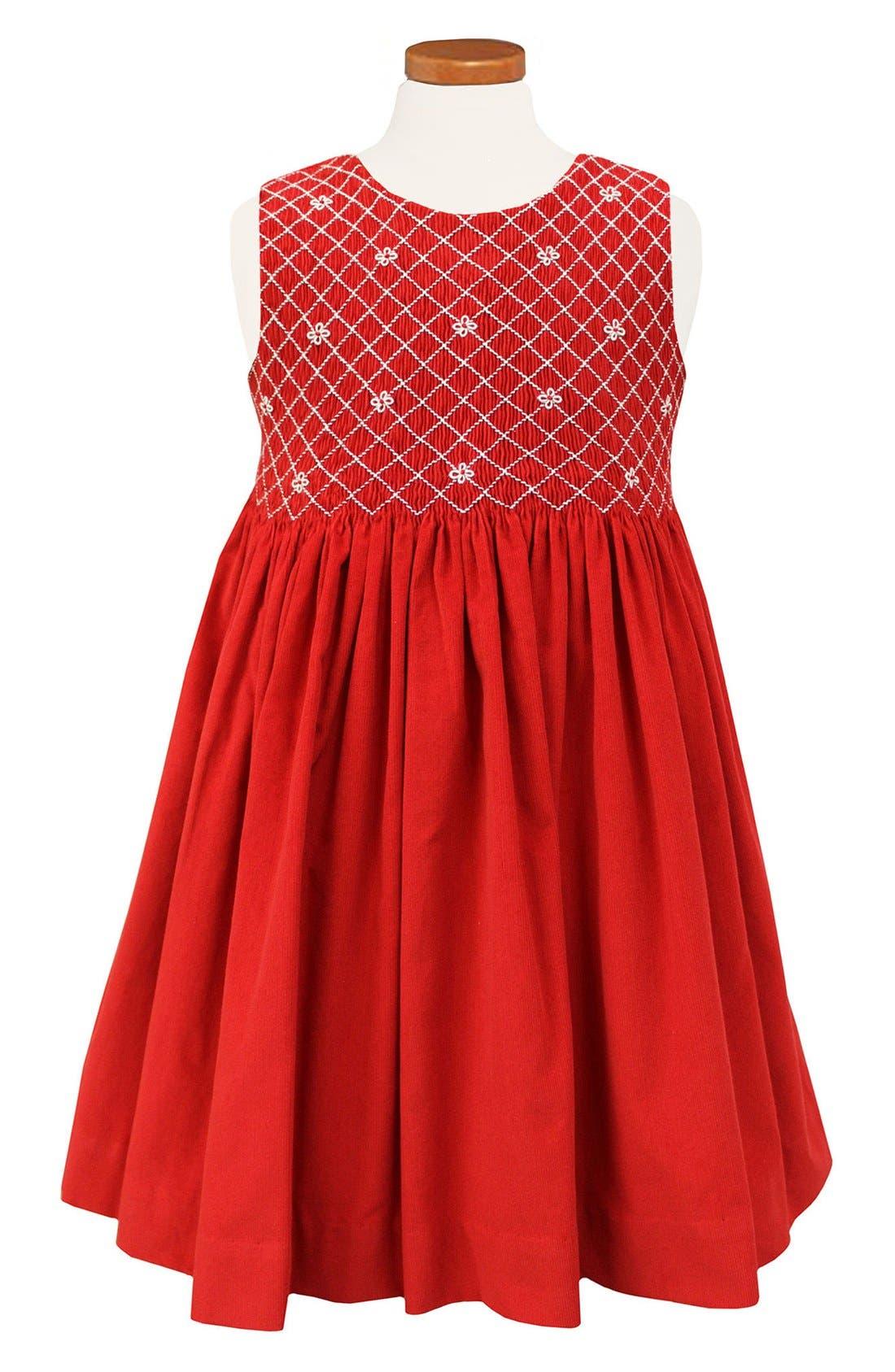 Sorbet Embroidered Smocked Dress (Toddler Girls, Little Girls & Big Girls)