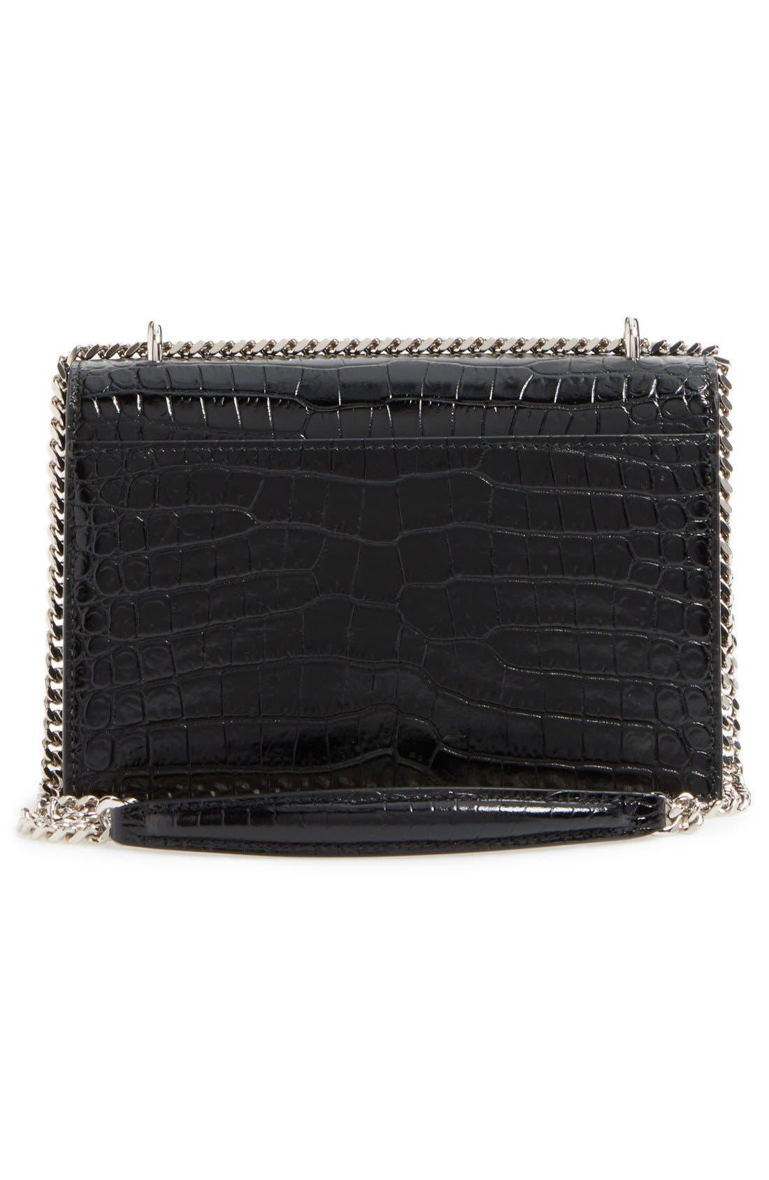Alternate Image 3  - Saint Laurent Mini Monogram Sunset Croc Embossed Leather Shoulder Bag