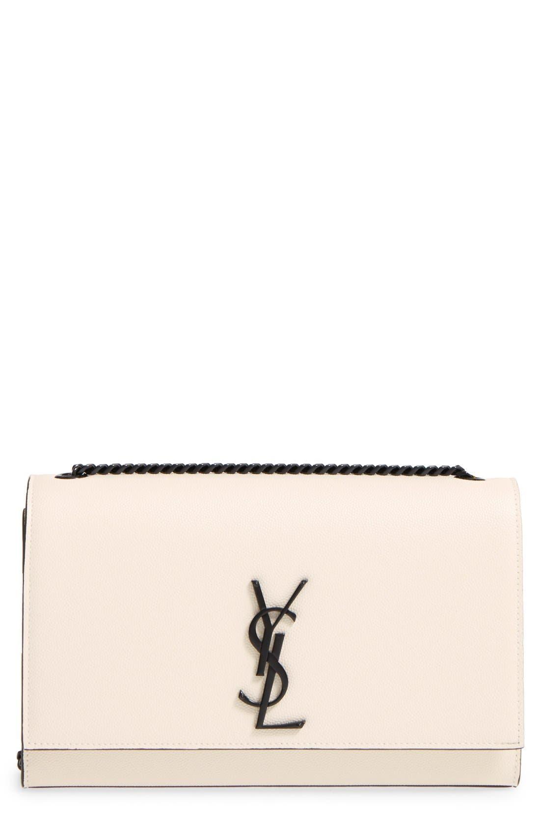 Main Image - Saint Laurent 'Medium Kate' Calfskin Leather Crossbody Bag