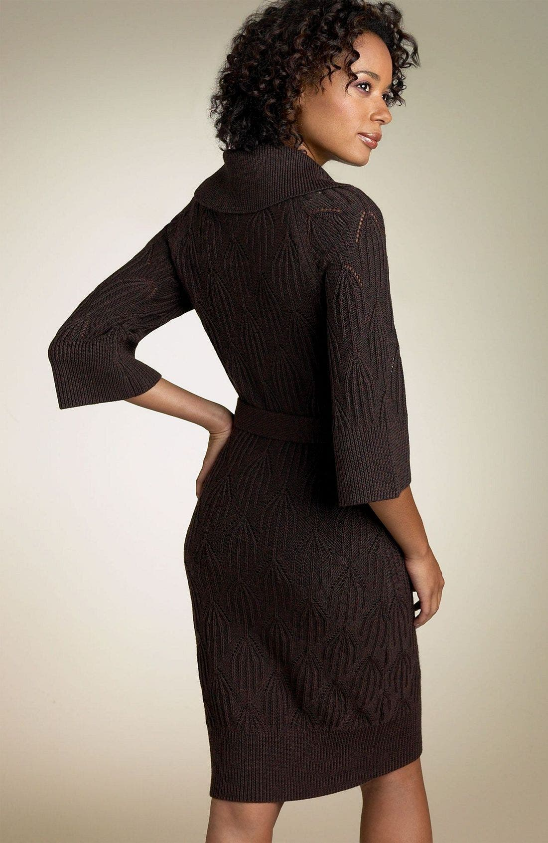 Alternate Image 2  - Laundry by Design Belted Sweater Dress