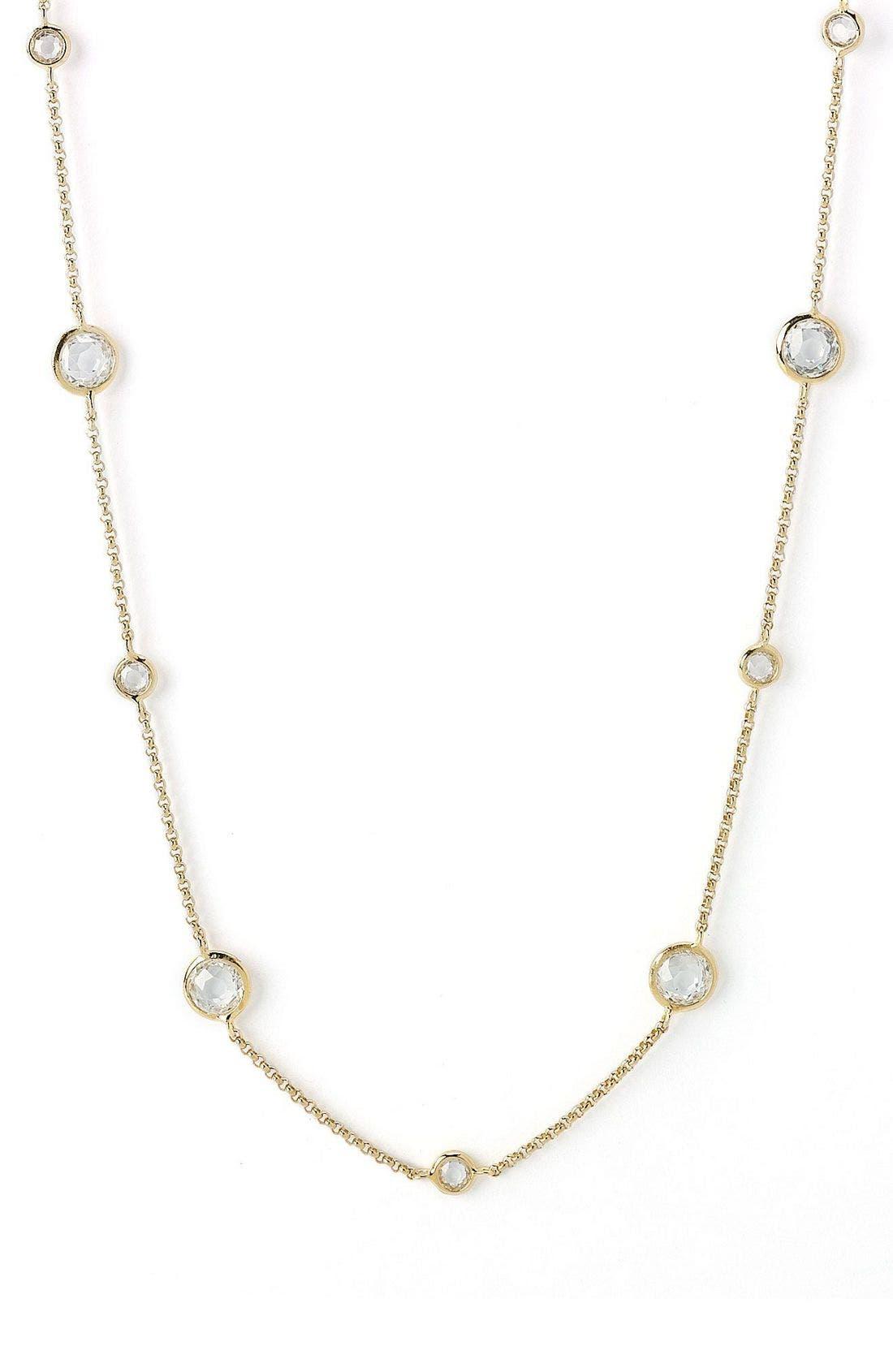 Main Image - Nadri Long Strand All Around Bezel Necklace