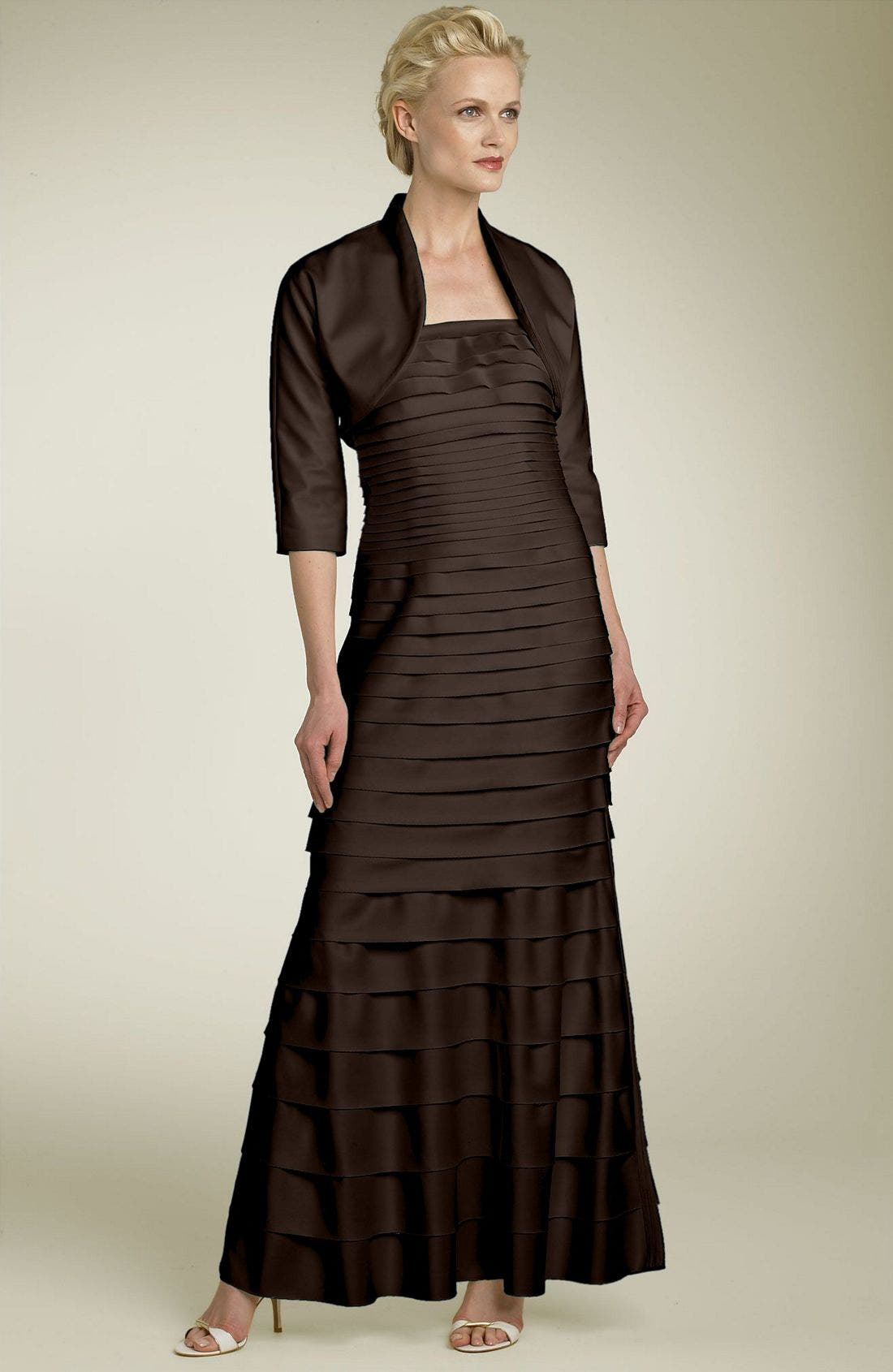 Alternate Image 1 Selected - JS Collections Laser Cut Dress & Bolero