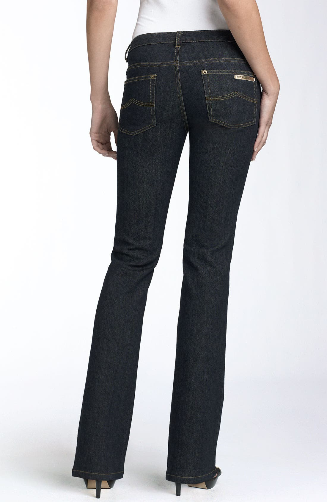 Alternate Image 2  - MICHAEL Michael Kors 'Sausalito' Stretch Demin Flare Jeans (Petite)