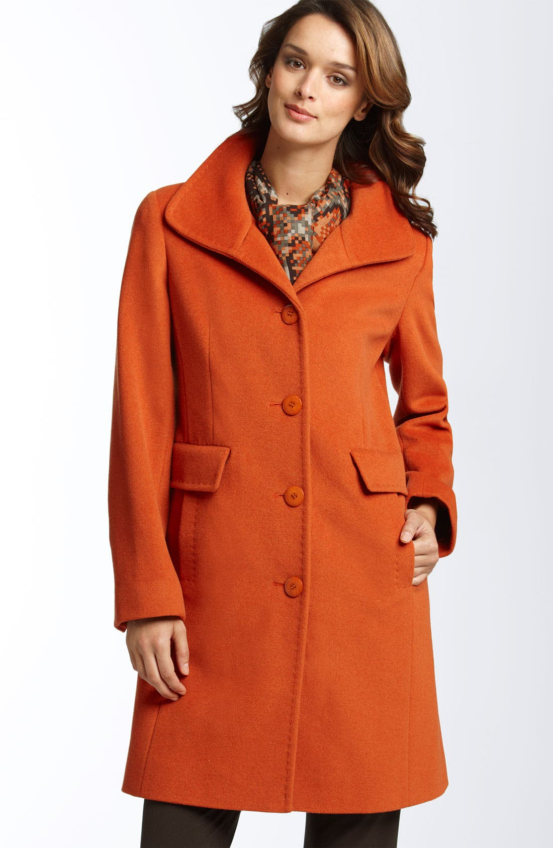 Alternate Image 1 Selected - Ellen Tracy Convertible Collar Coat