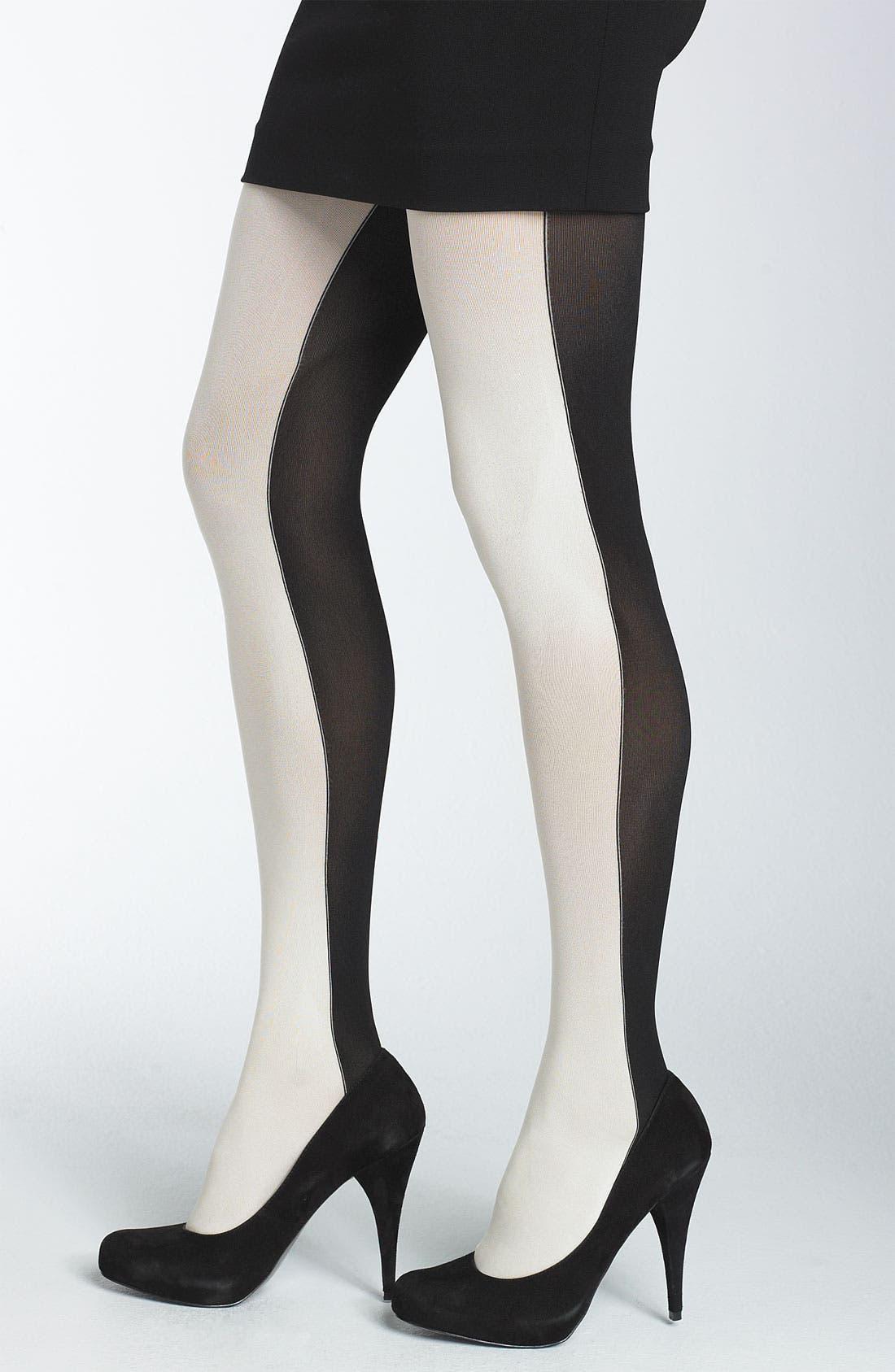 Main Image - DKNY Color Block Tights