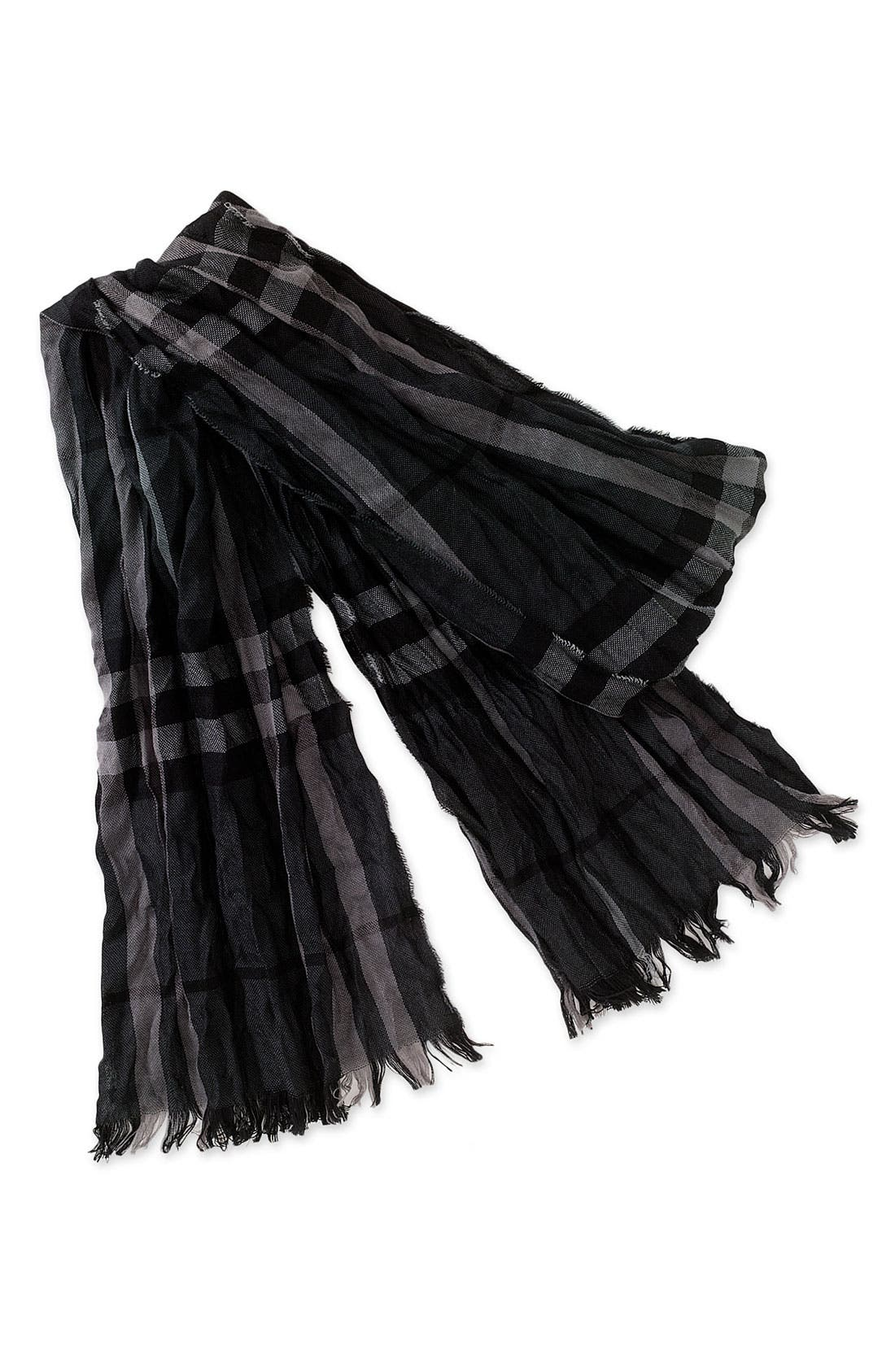 Main Image - Burberry Crinkled Merino Wool & Cashmere Scarf