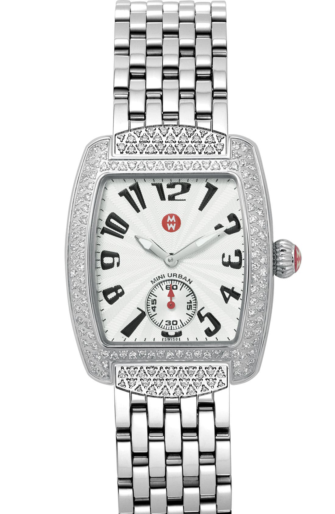 Alternate Image 2  - MICHELE 'Urban Mini Diamond' Watch Case