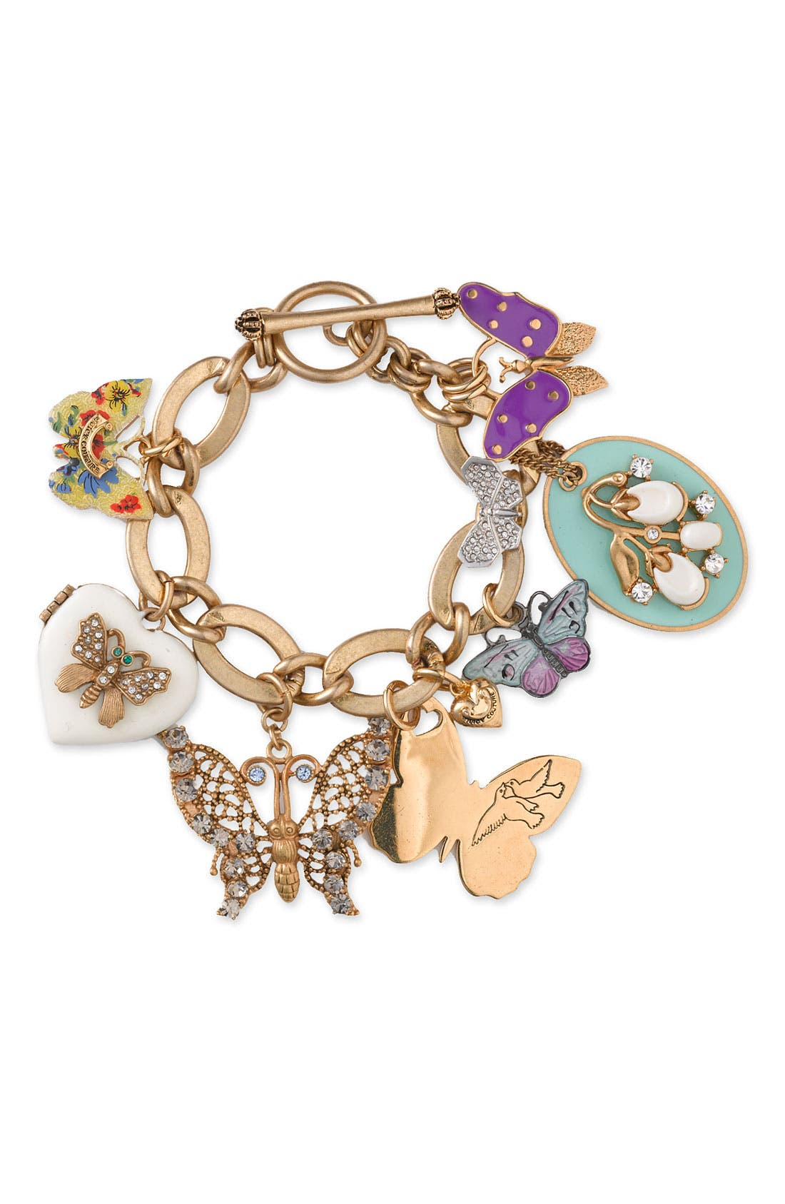 Alternate Image 1 Selected - Juicy Couture 'Flights of Fancy' Butterfly Charm Bracelet