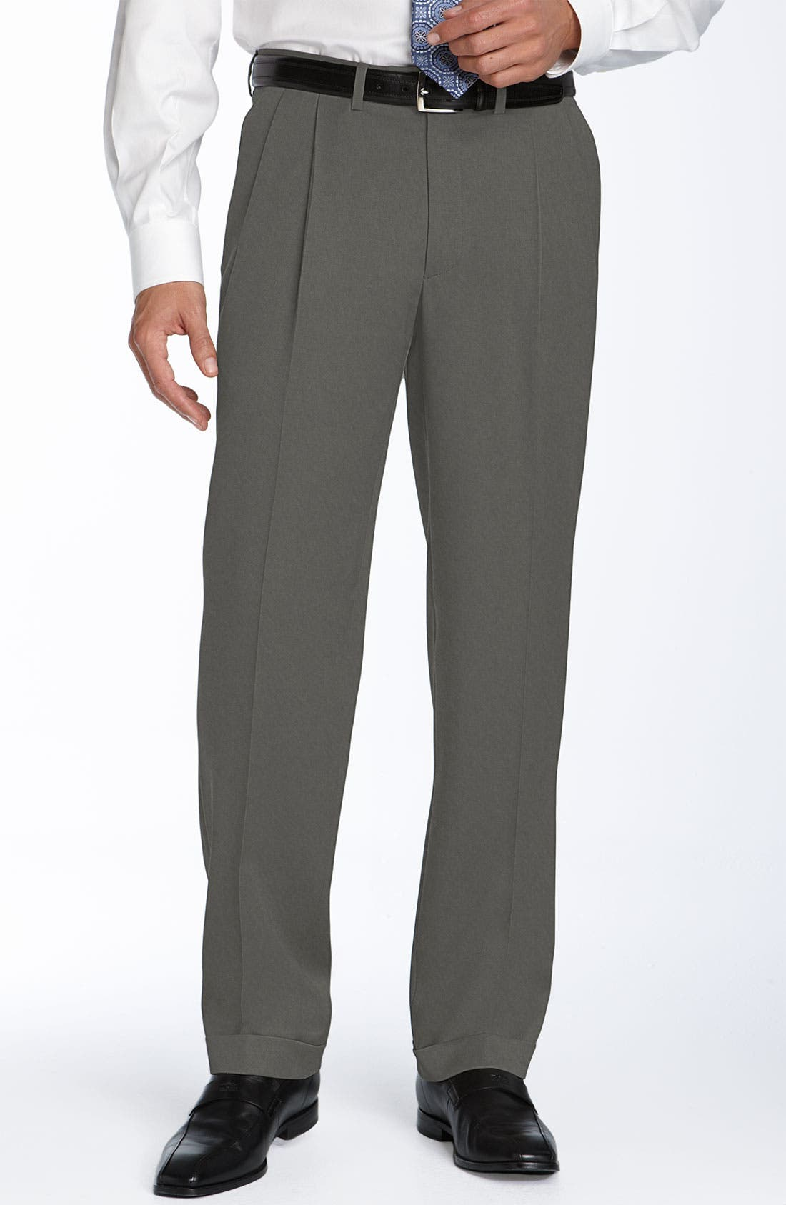 Main Image - Pazoni Double Reverse Pleated Trousers