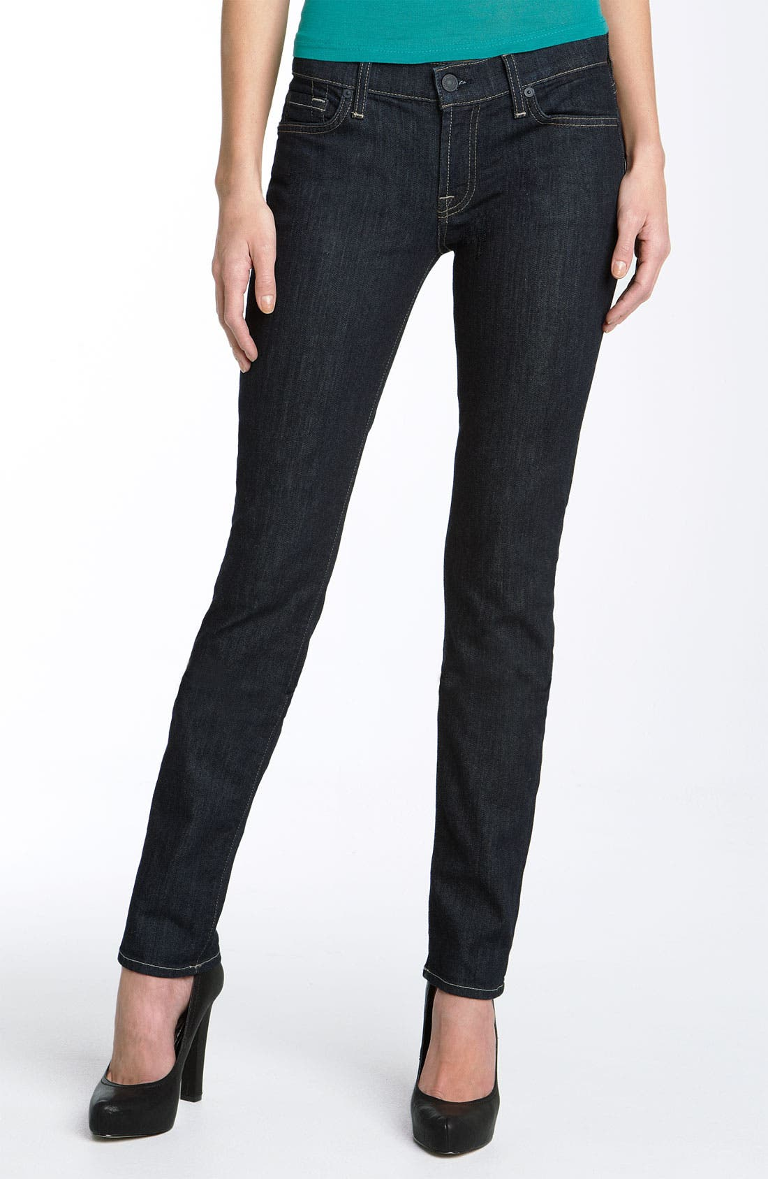 Alternate Image 2  - 7 For All Mankind® 'Roxanne' Skinny Stretch Jeans (Rinse Wash)