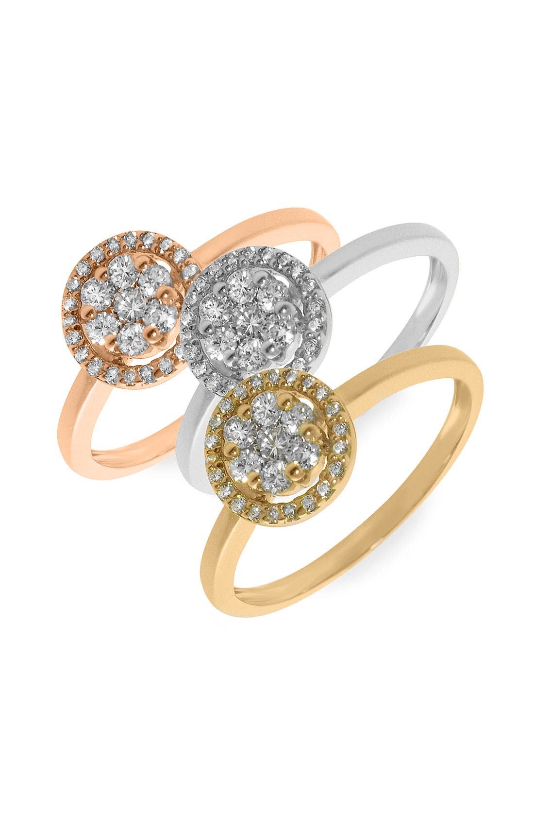 Main Image - Bony Levy Flower Diamond Stackable Ring (Nordstrom Exclusive)