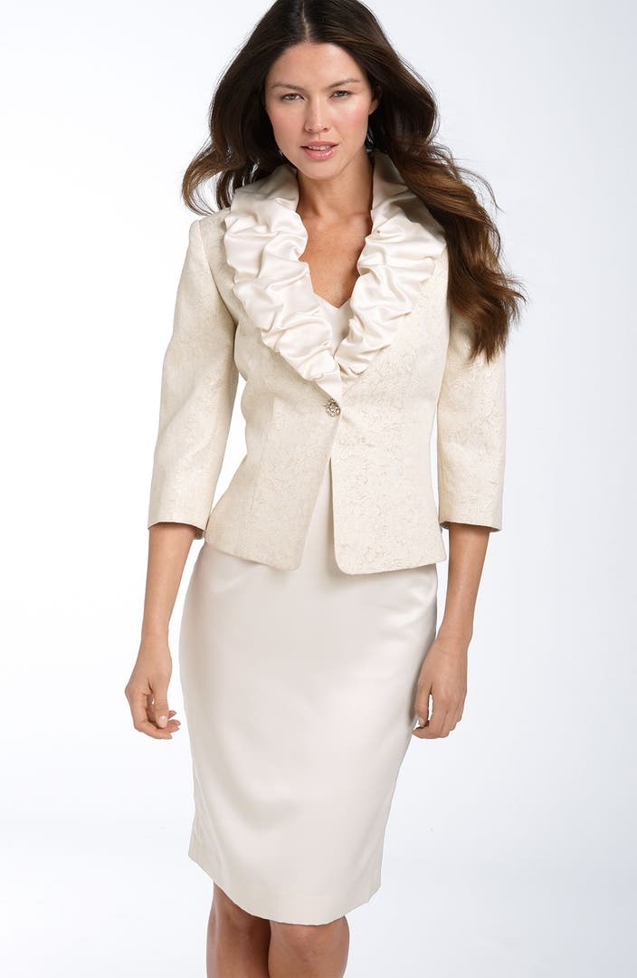Adrianna Papell Sheath Dress With Jacquard Jacket Nordstrom