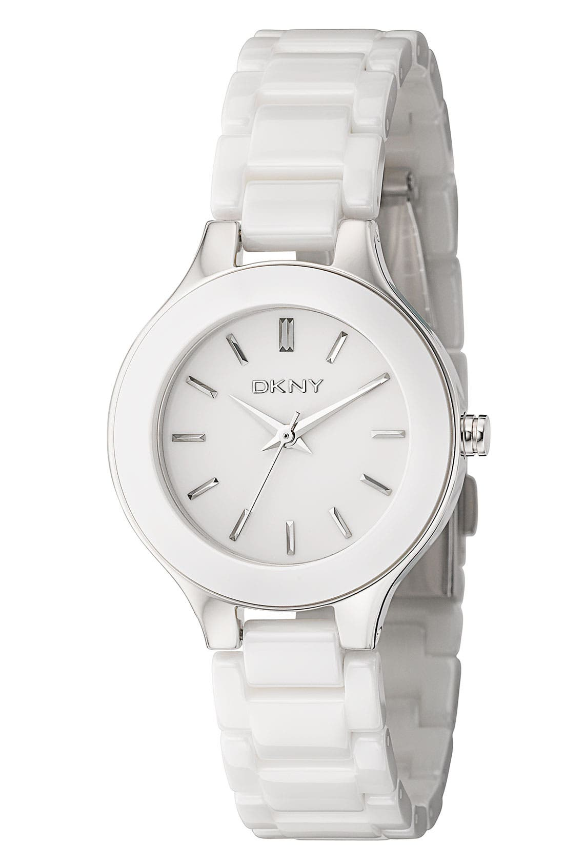 Alternate Image 1 Selected - DKNY 'Chambers' Ceramic Bracelet Watch, 30mm