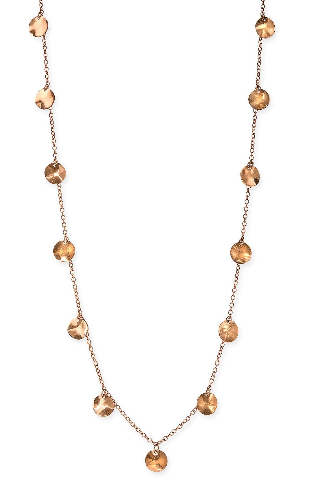 Alternate Image 1 Selected - Ippolita Long Paillette Rosé Necklace