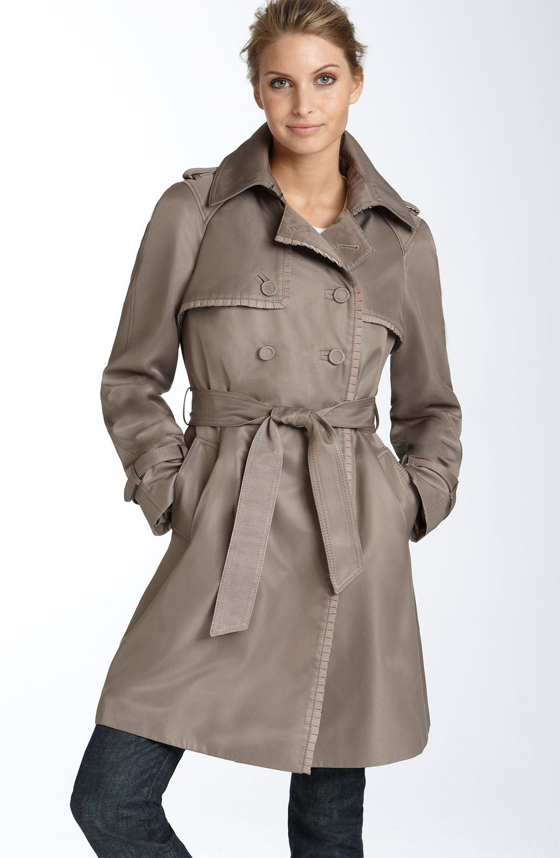 Alternate Image 1 Selected - Jessica Simpson 'Lucy' Double Button Trench