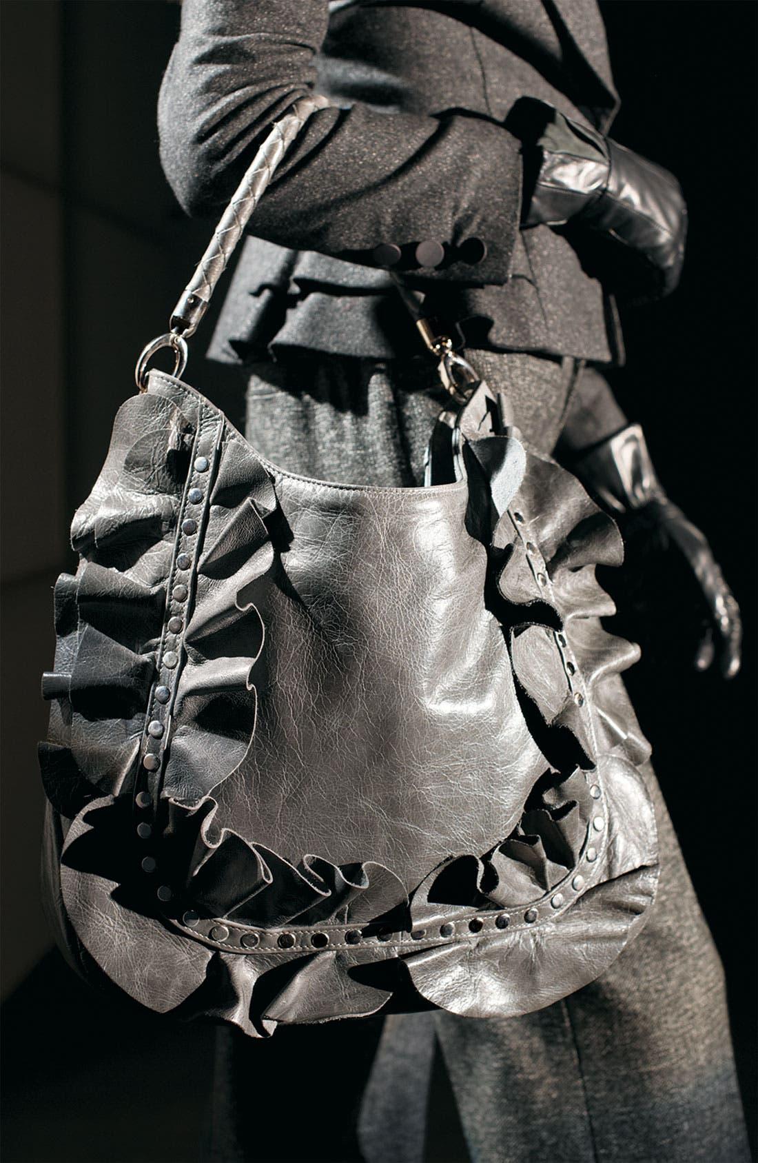 Alternate Image 4  - Susan Farber 'Sicily' Studded Ruffle Hobo